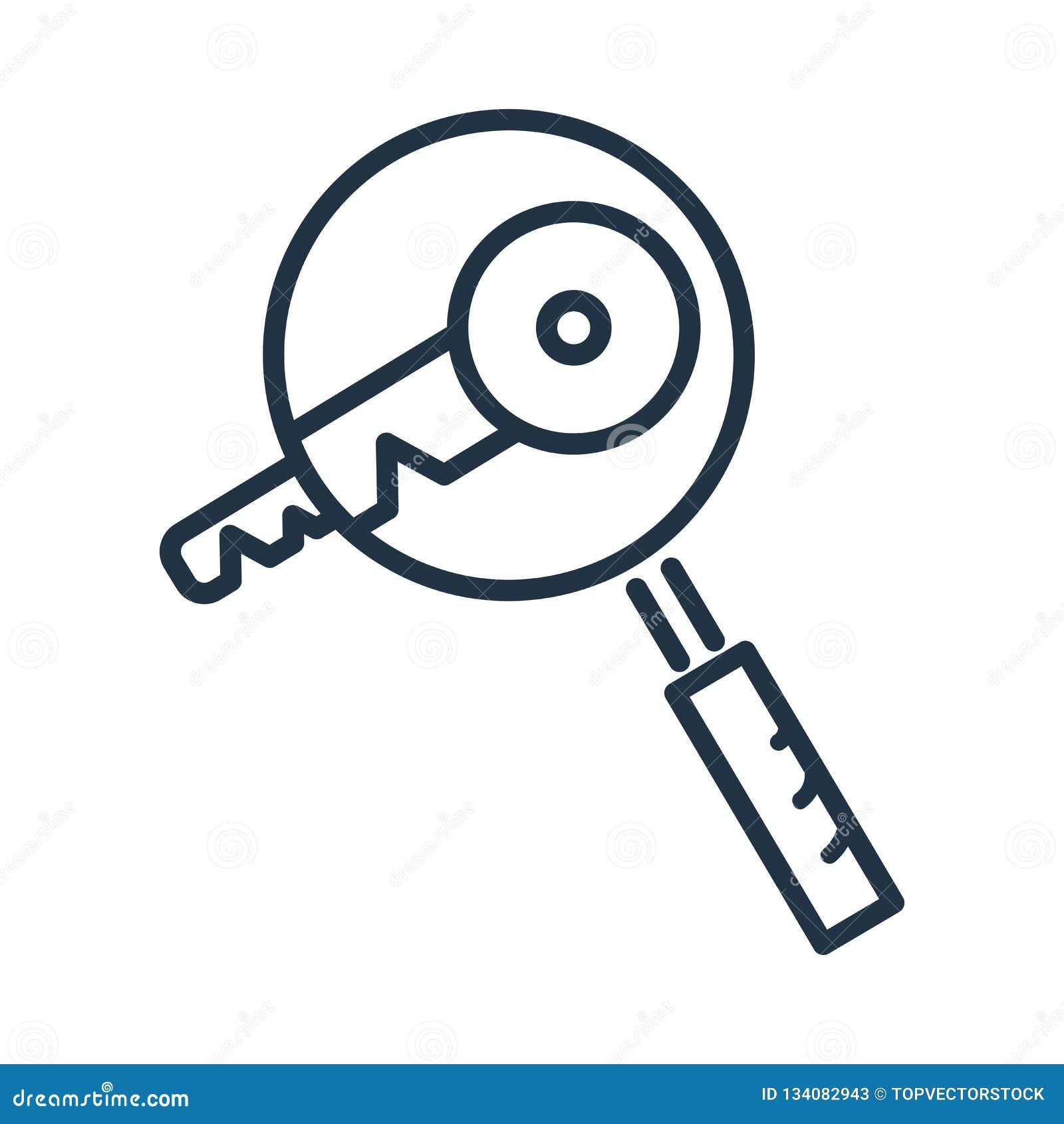 Słowo kluczowe ikony wektor odizolowywający na białym tle, słowo kluczowe znak