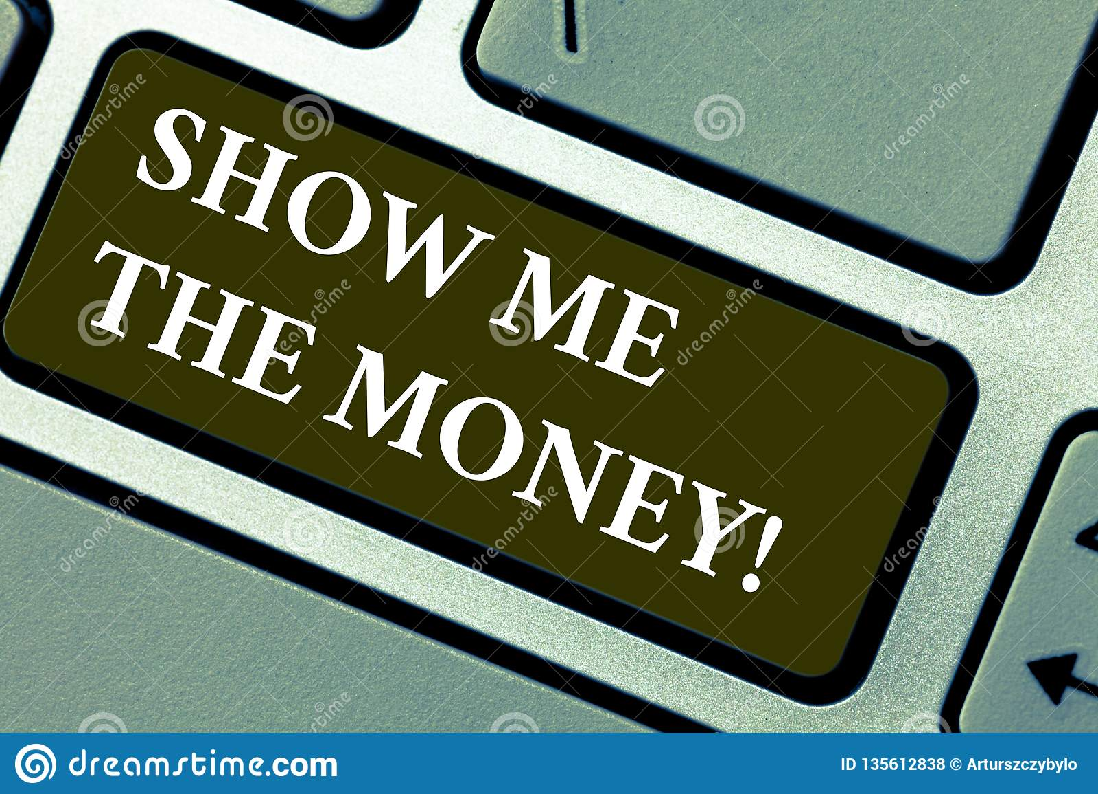 Słowo pisze tekscie Pokazuje Ja pieniądze Biznesowy pojęcie dla Pokazywać gotówkę przed nabywać lub robić inwestuje klawiaturę