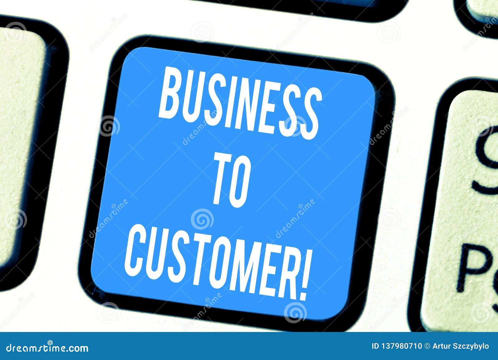 Słowo pisze teksta biznesie klient Biznesowy pojęcie dla Kierowałyśmy transakcji między firmą i konsumentami