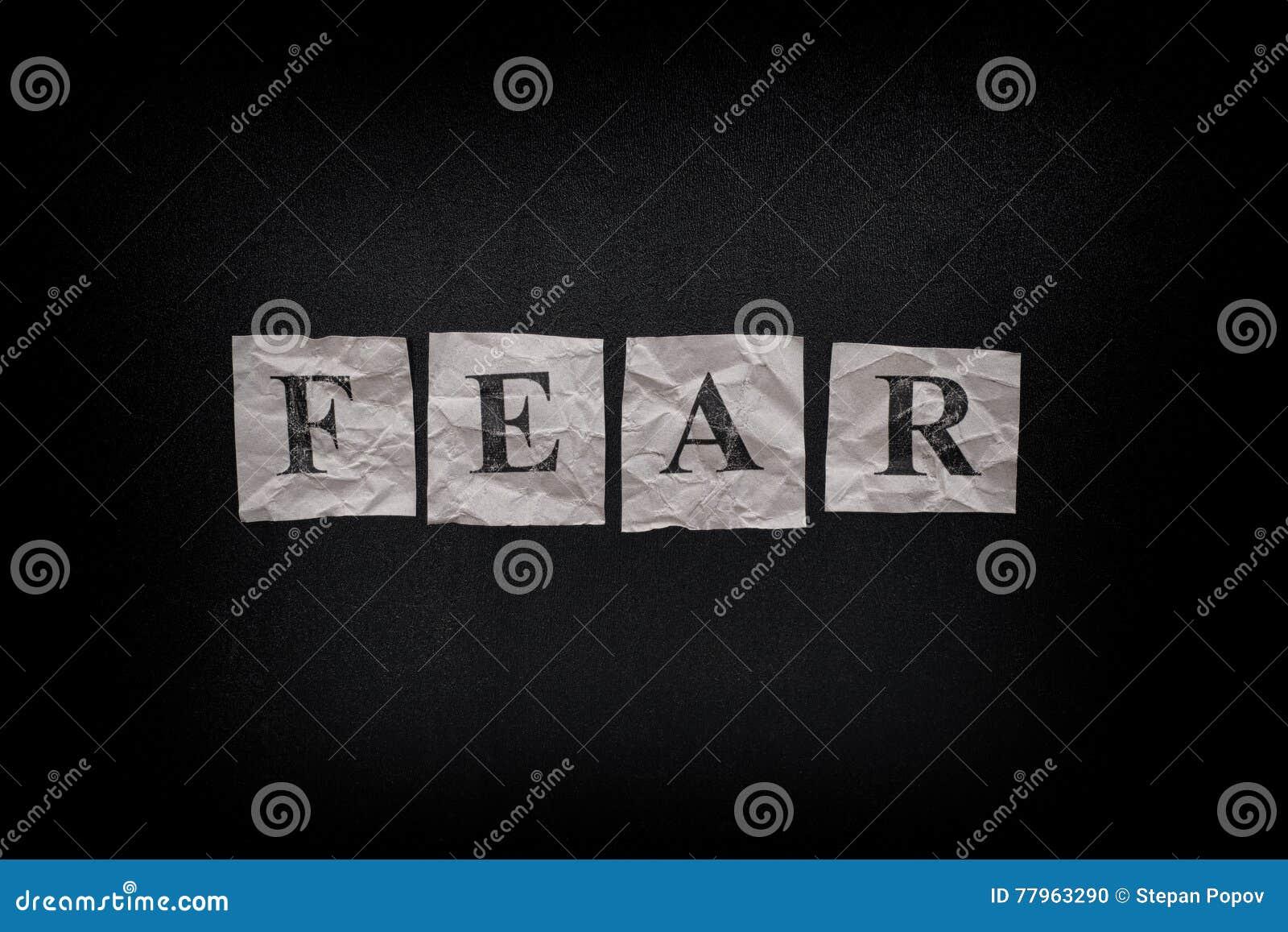 Słowo strach na blackboard