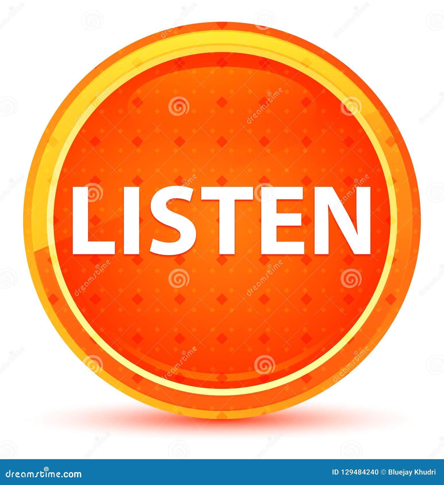 Słucha Naturalnego Pomarańczowego Round guzika