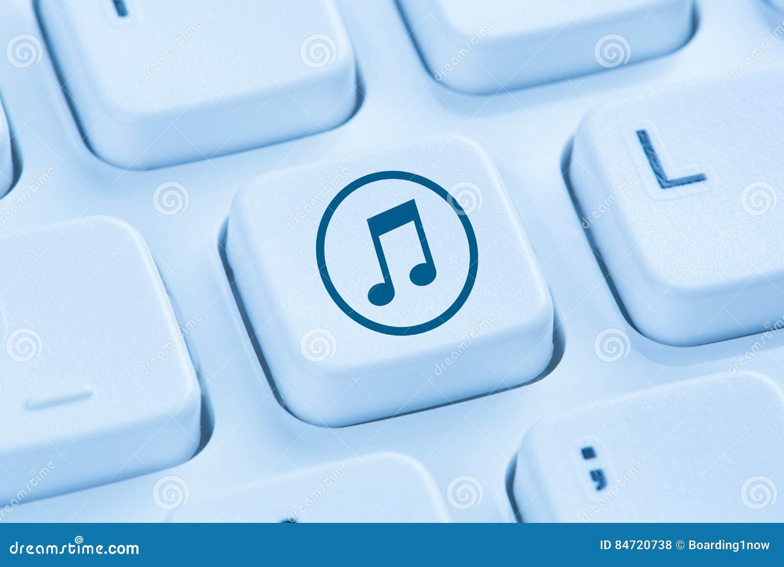 Słuchający ściągania ściąganie leje się muzycznego interneta błękitnego com
