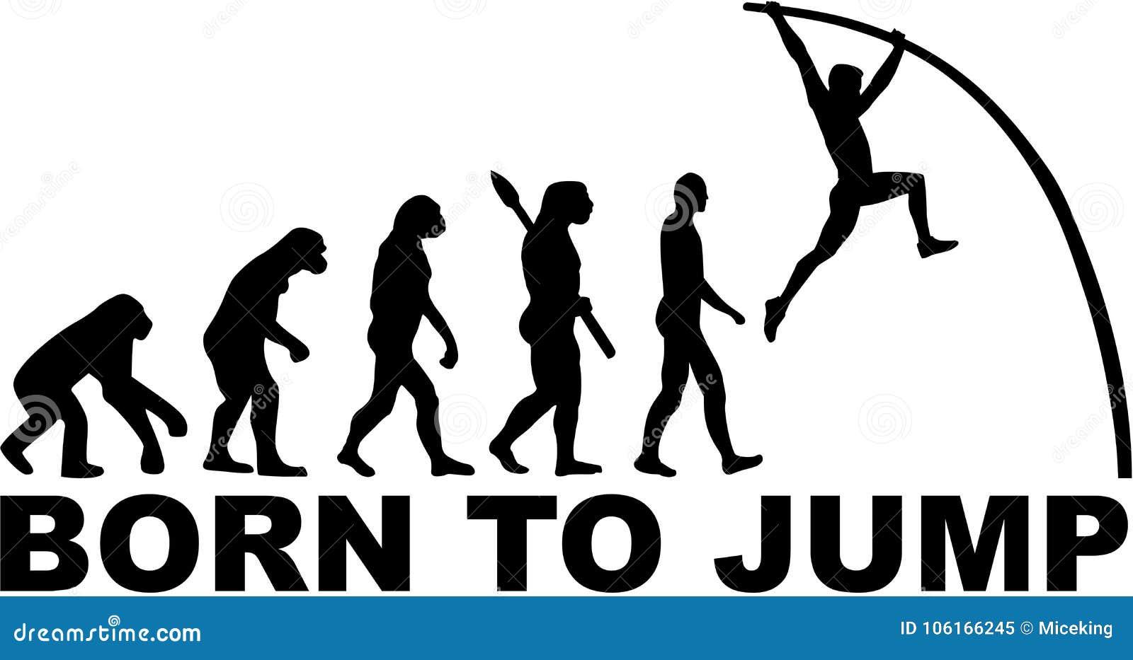 Słup krypty ewolucja Urodzona skakać