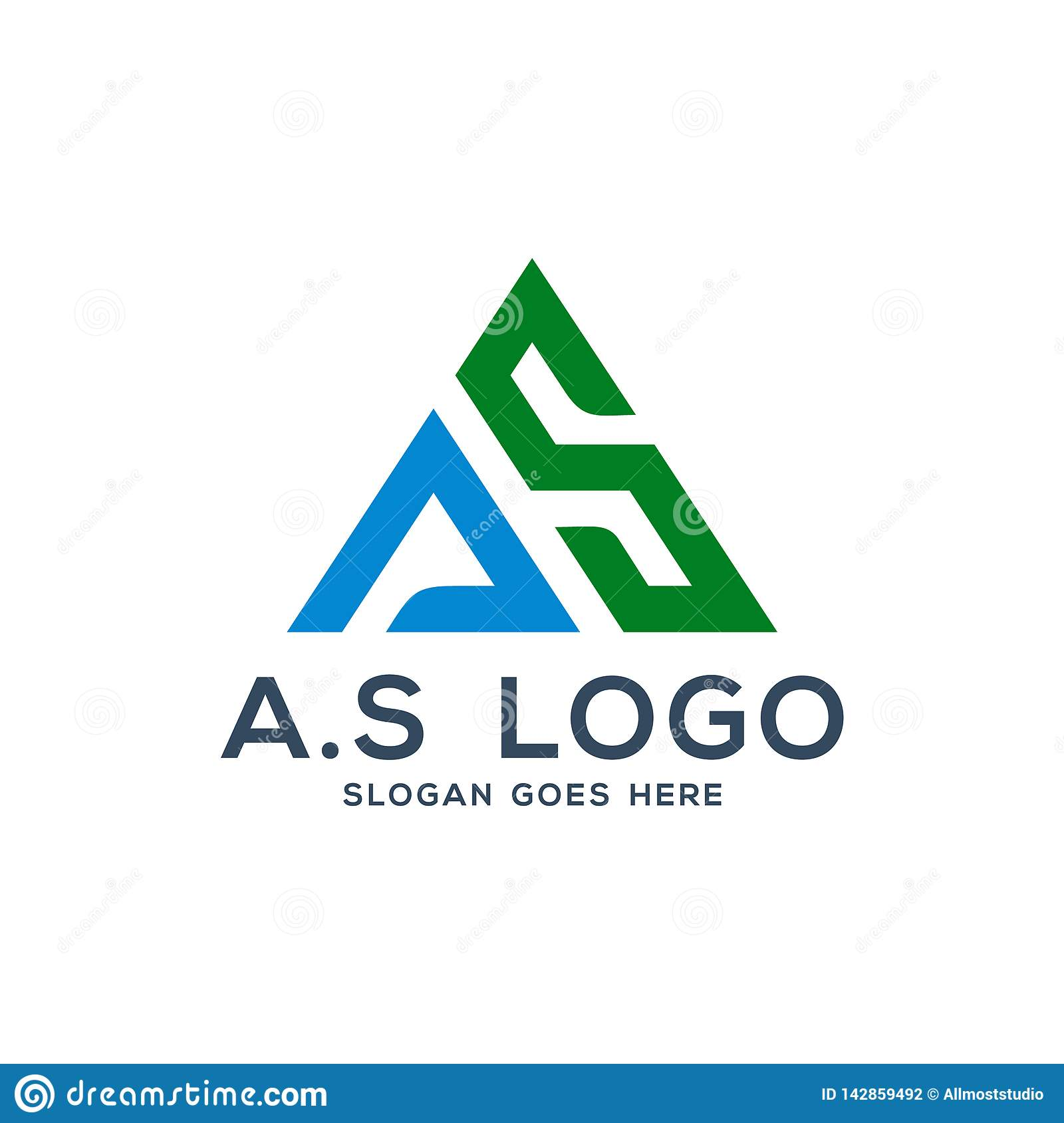 A s商标concep,标注姓名起首字母如同说明