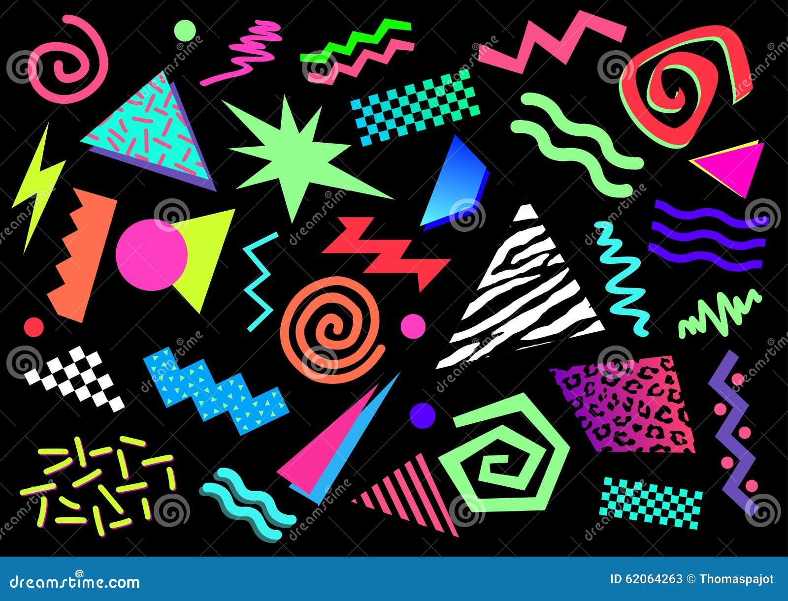 80s abstrakta kształty