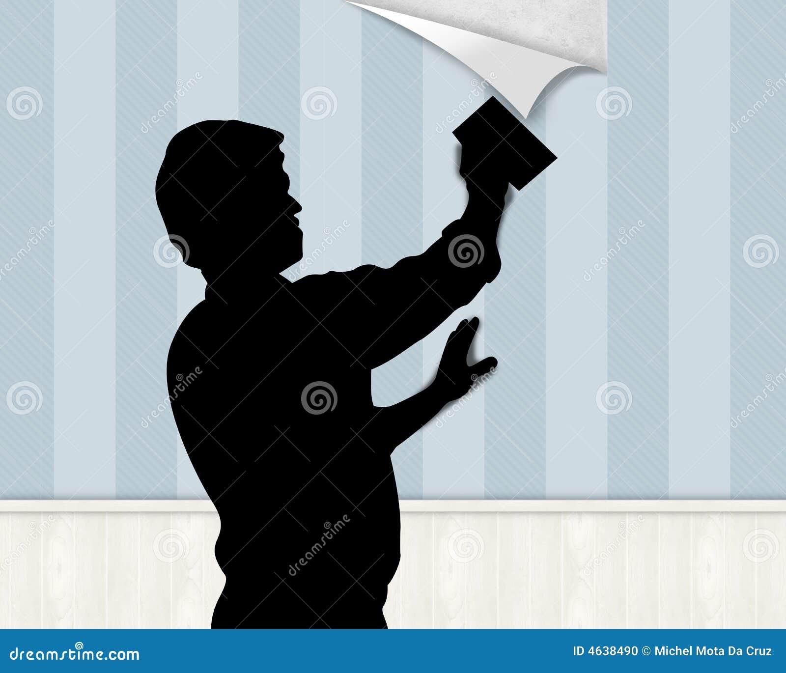 S arrêter vers le haut du papier peint