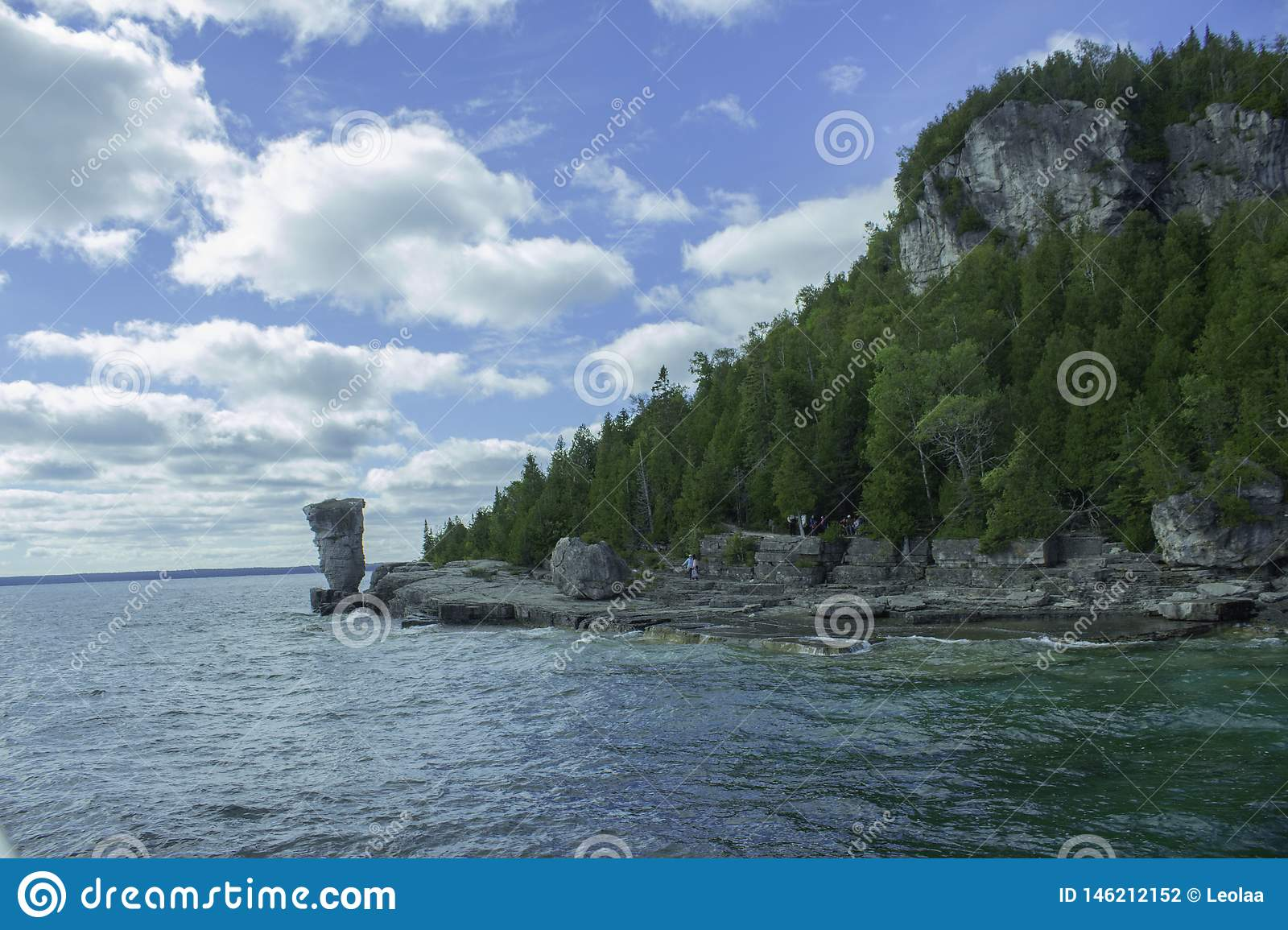 Approaching Flower Pot Island On A Sunny Day