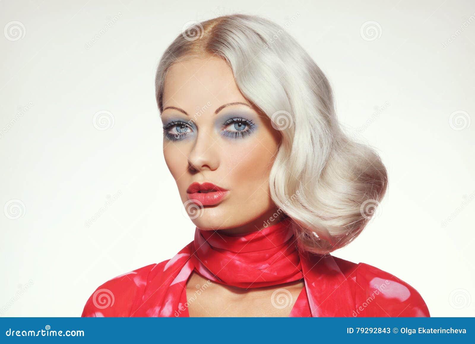 70s Beauty Stock Image Image Of Blue Fashion Permanent 79292843