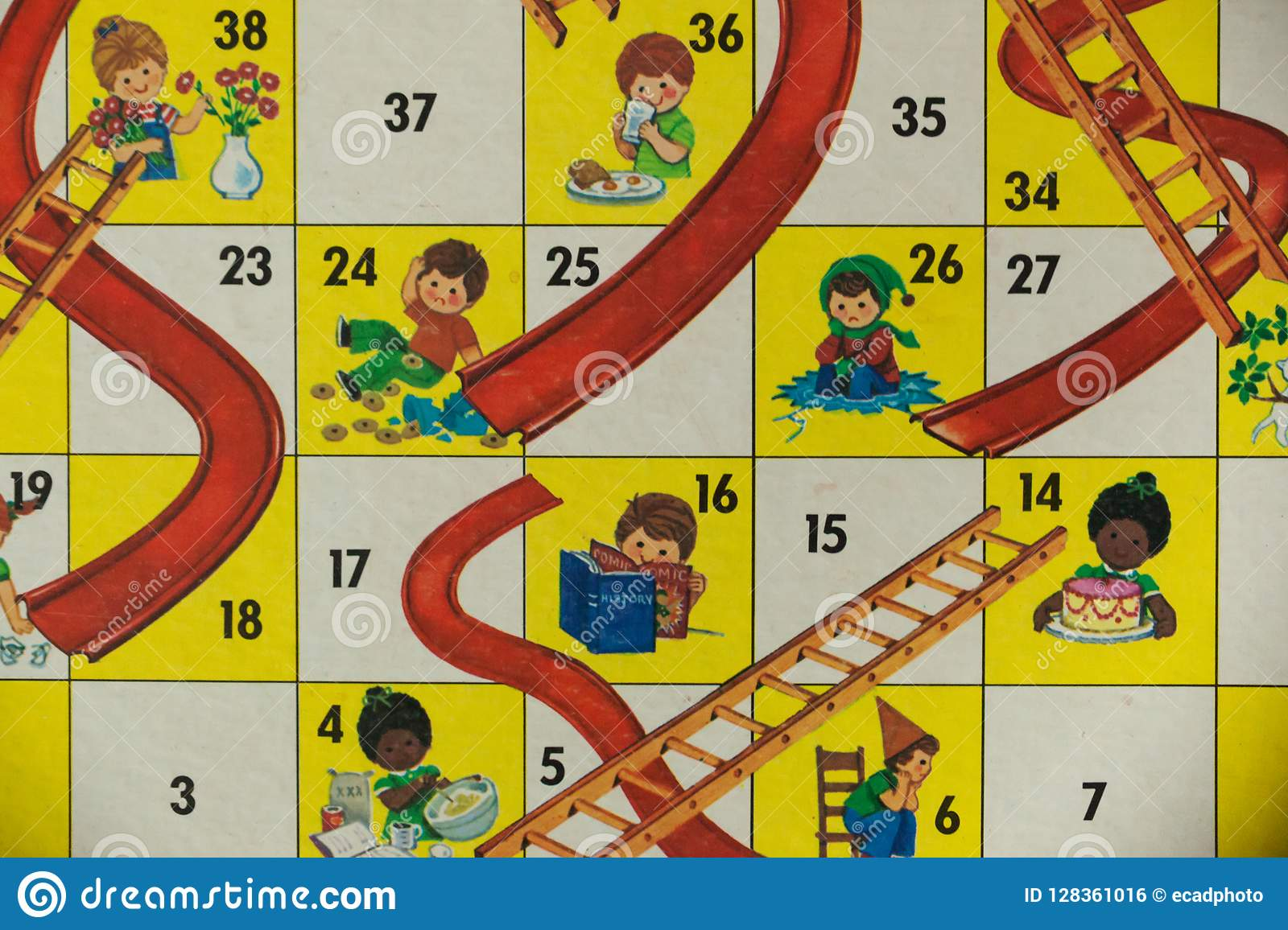 1980s board games chutes and ladders editorial photo image of