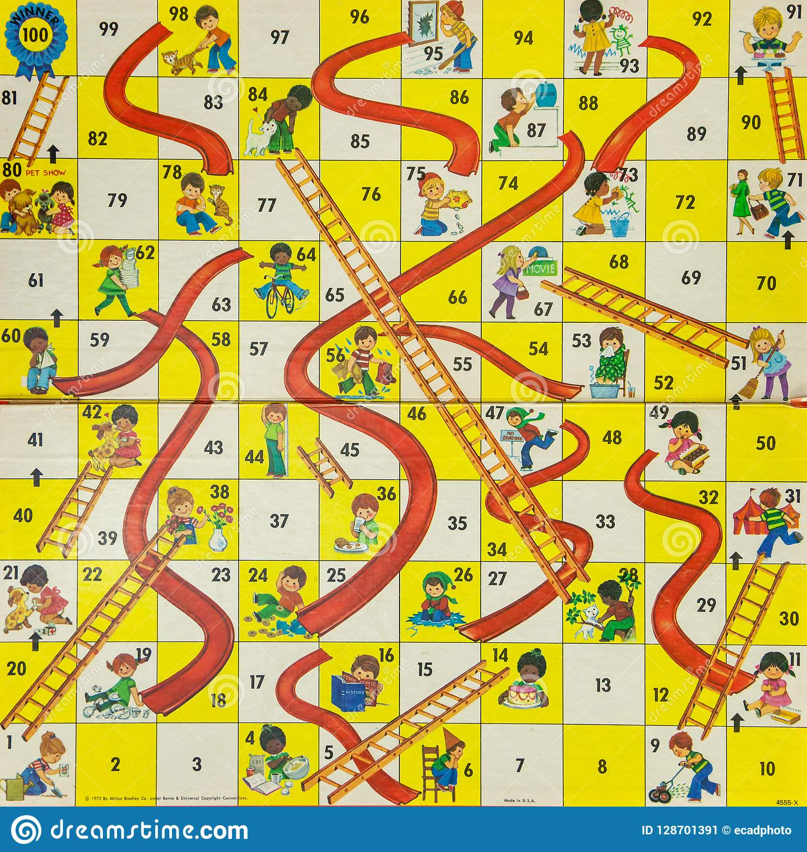 Chutes and Ladders Game Board