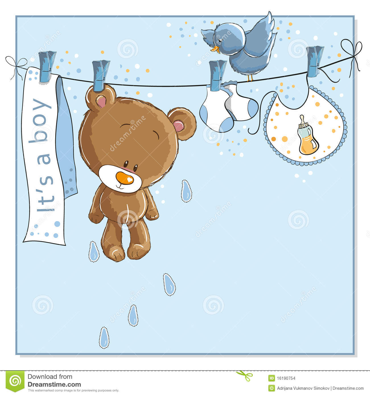 It's A Boy - Baby Announcement Card Stock Images - Image: 16190754