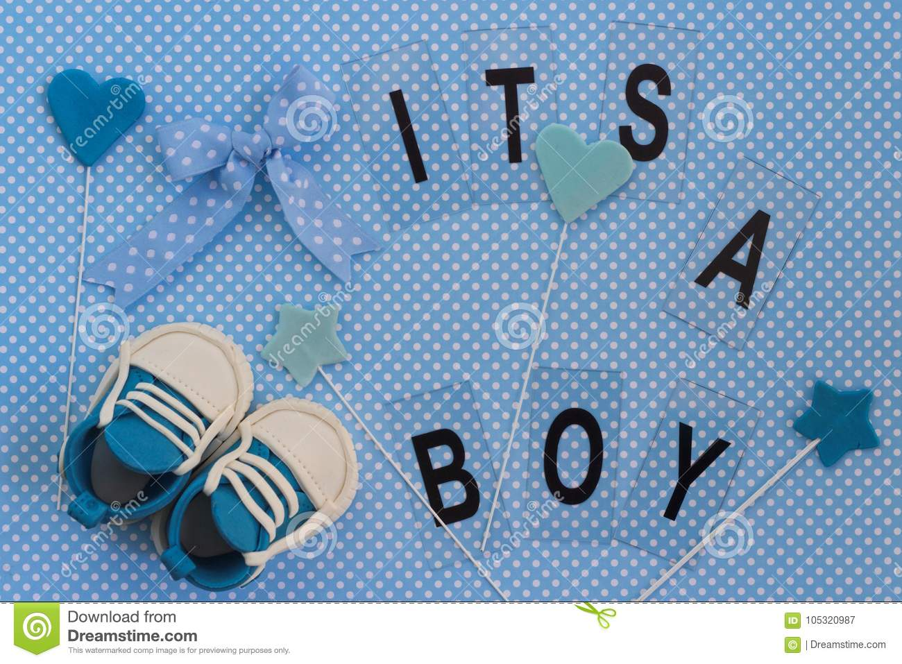 it s a boy baby announcement newborn background stock image