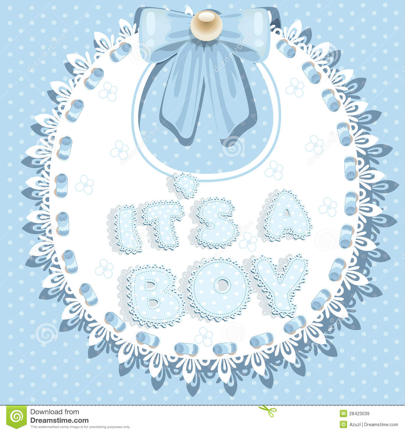 It`s A Boy Baby Shower On Bib Royalty Free Stock Images - Image ...