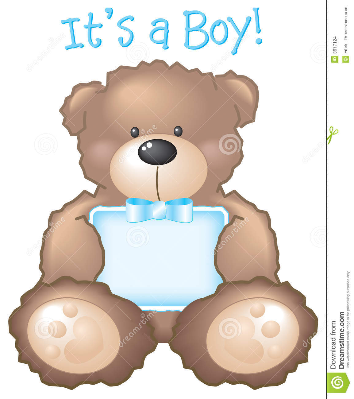 Baby boy teddy bear clip art - photo#7
