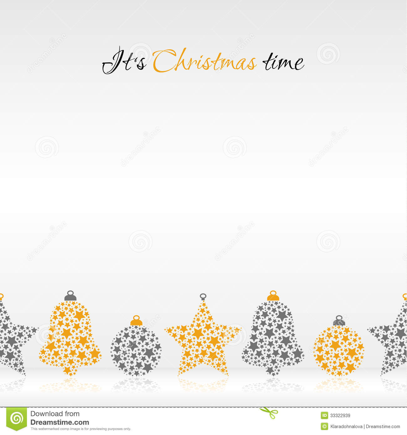 Its christmas time illustration royalty free stock images for A text decoration