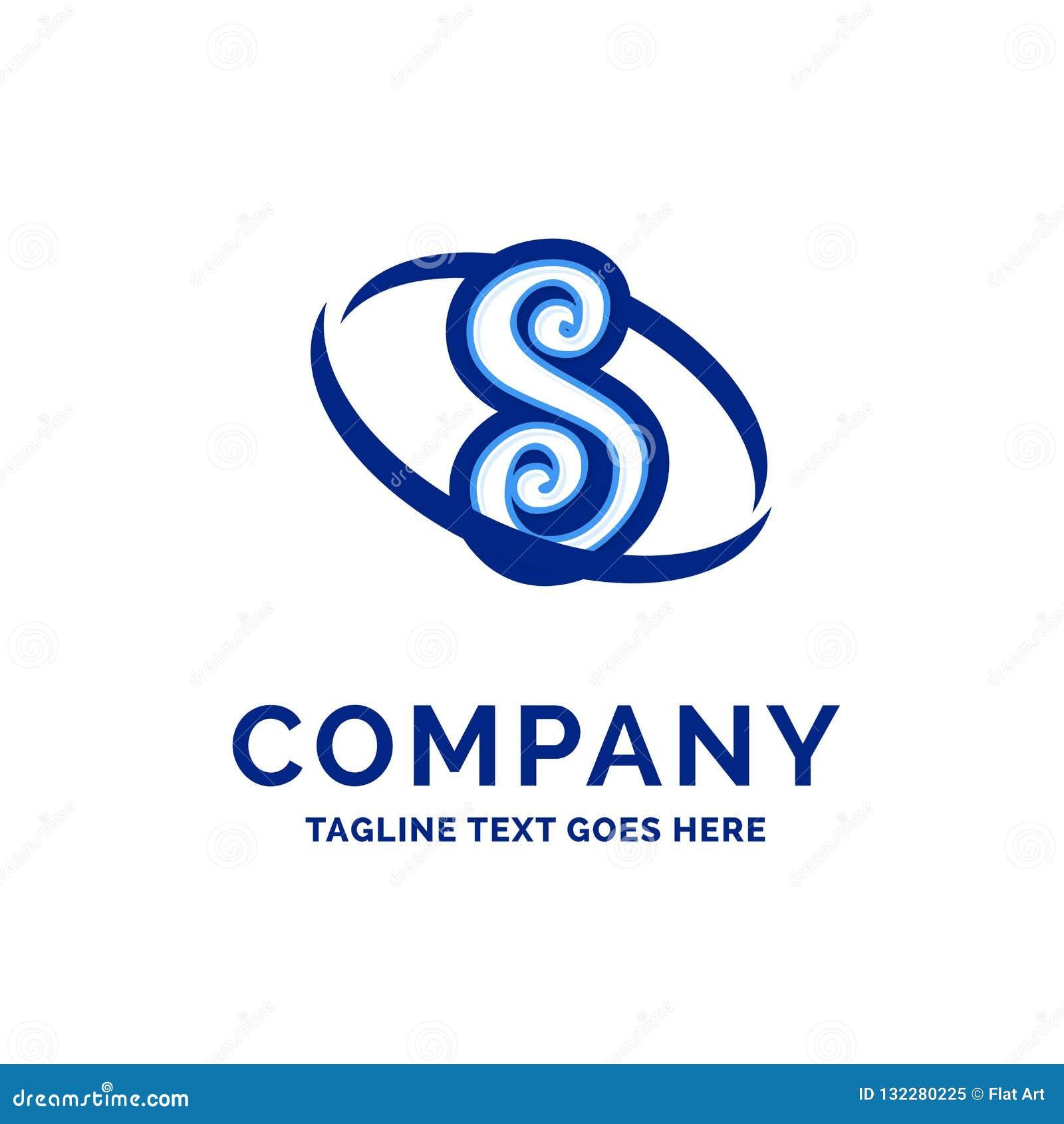 S Company公司名称设计蓝色商标设计