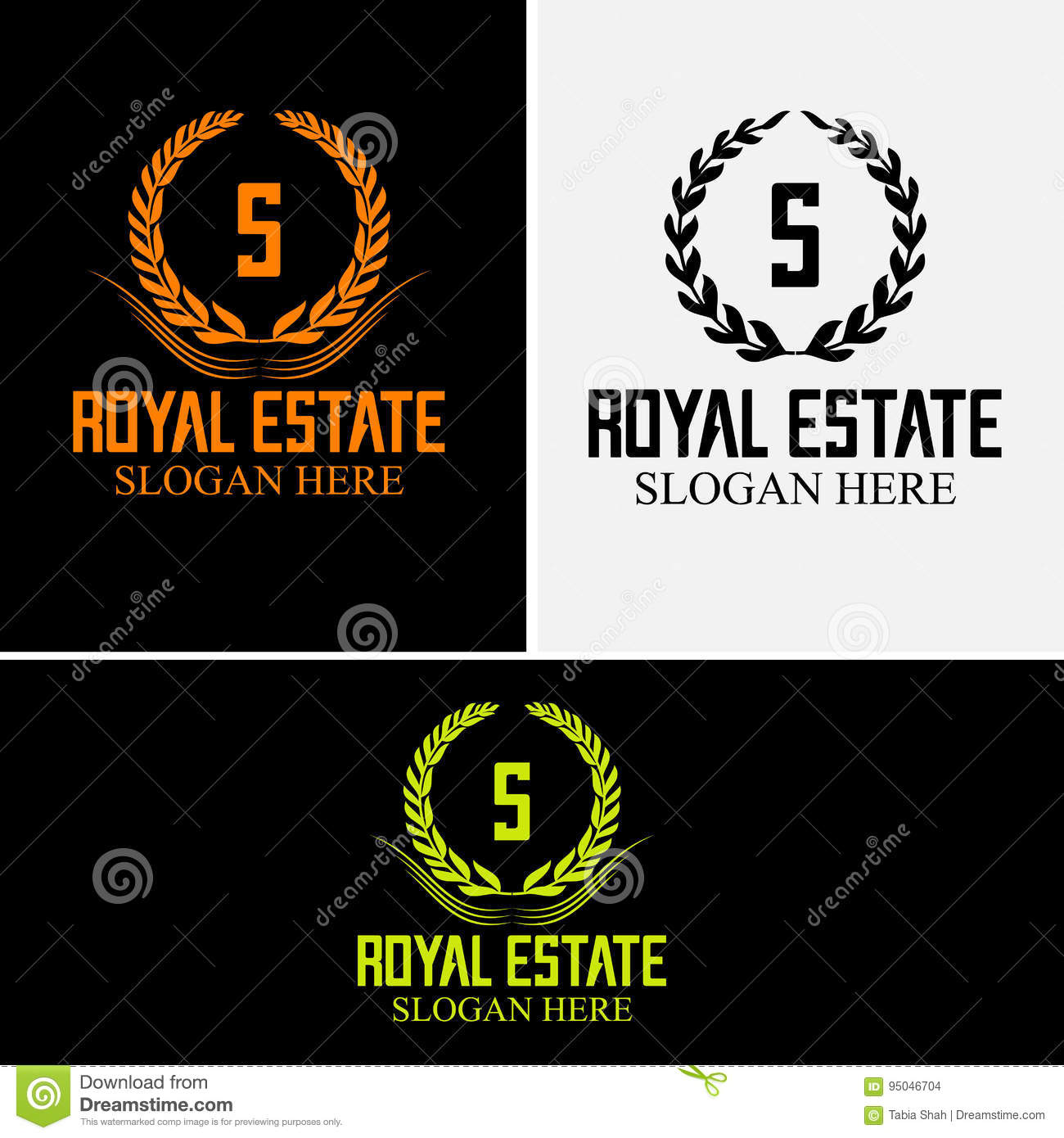S Company Logo Luxurious Hotel Coat Of Arms Gold Colored Round Royalty Classic Symbol Template Stock Vector Illustration Of Emblem Fully 95046704