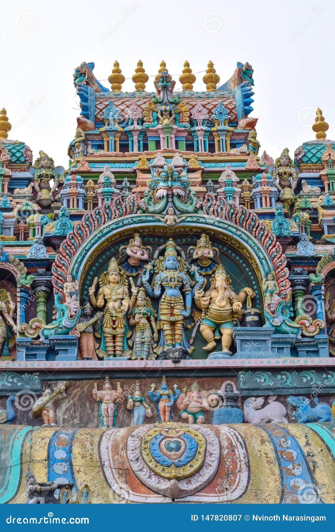 S?d-Tempel Indiens Madurai Thiruparankundram Murugan