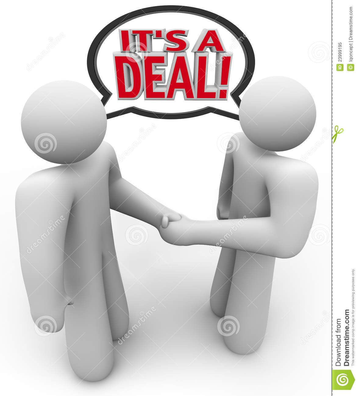 It S A Deal People Buyer Seller Handshake Royalty Free