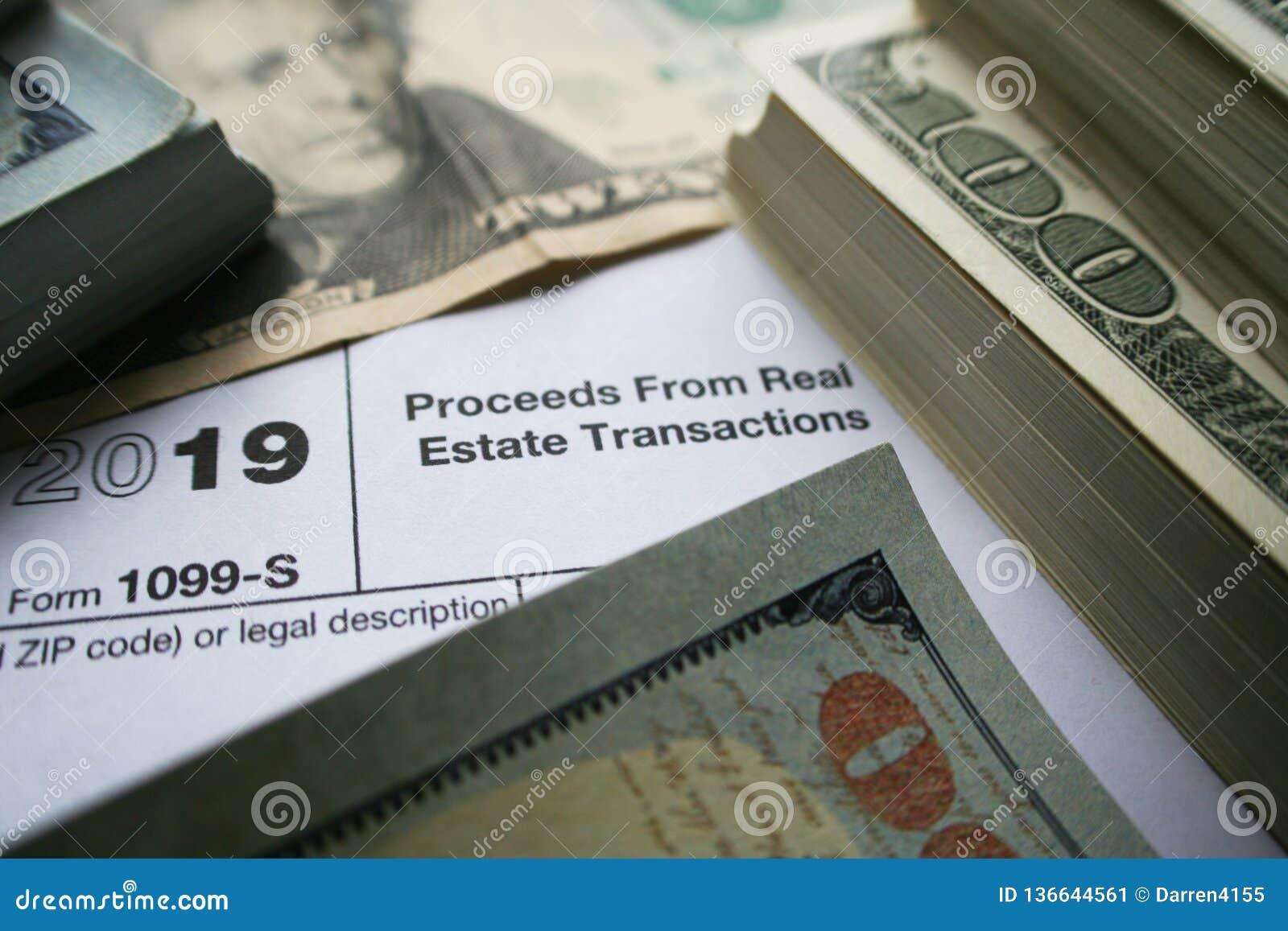 1099-S dochody Od Real Estate transakcji formy Z pieniądze Wysokiej Jakości