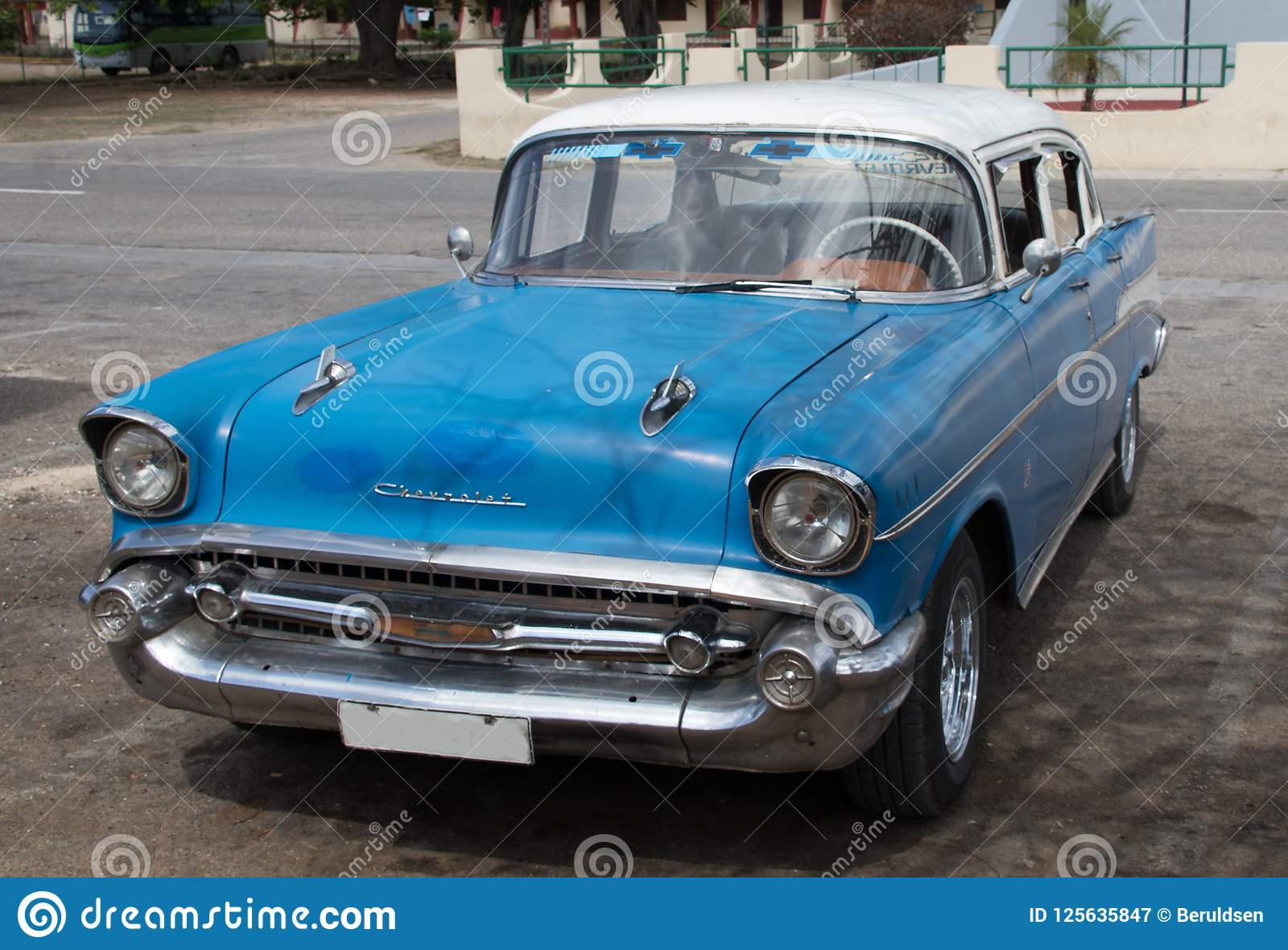An Old Chevy in Cuba editorial photography  Image of cars