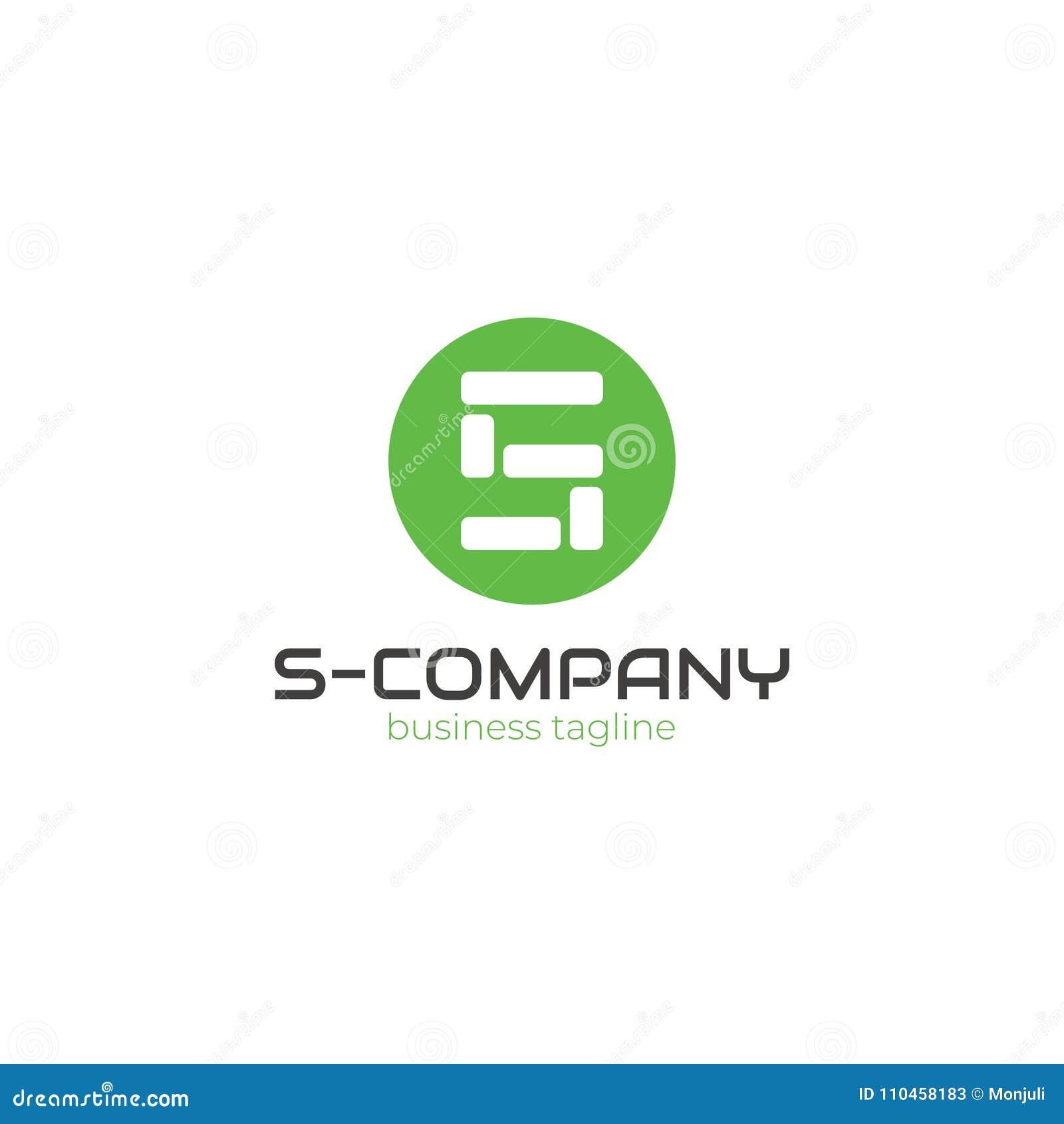 S - företagslogo - byggfirmalogo - tegelstenar