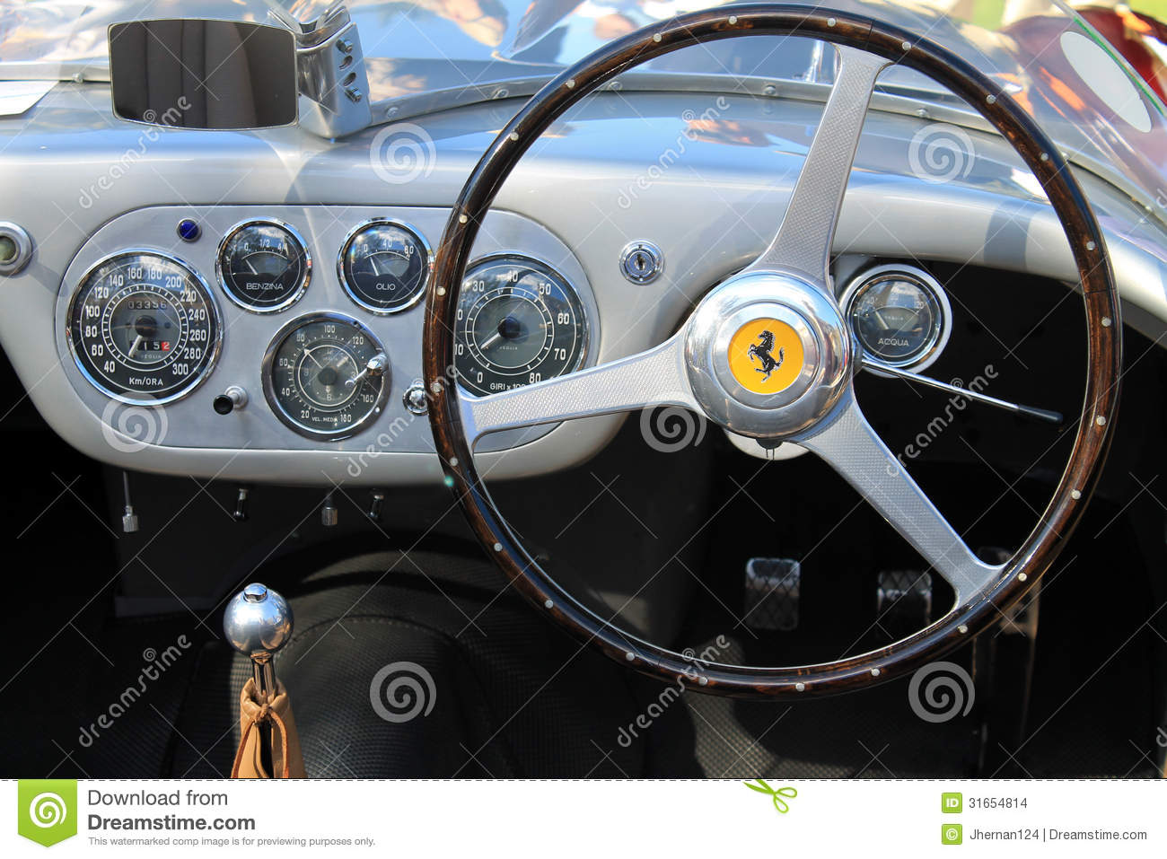 1950s Ferrari Interior Dashboard Gauges Editorial Stock