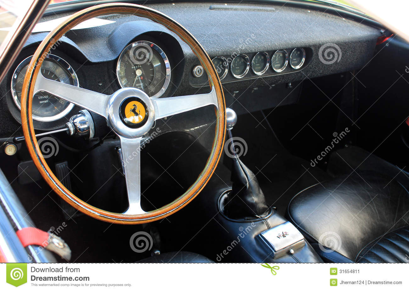 1950s ferrari interior gauges editorial photo image of racer chrome 31654811. Black Bedroom Furniture Sets. Home Design Ideas