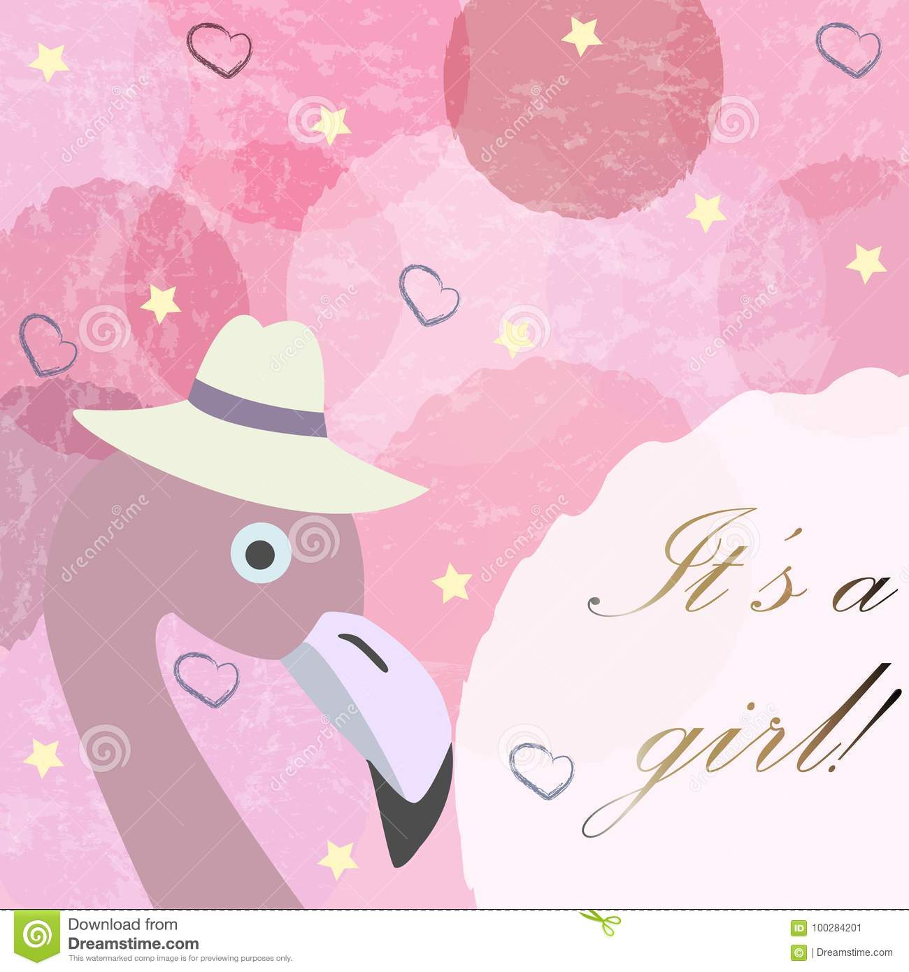 Its a girl baby girl birth announcement card label greeting download its a girl baby girl birth announcement card label greeting m4hsunfo