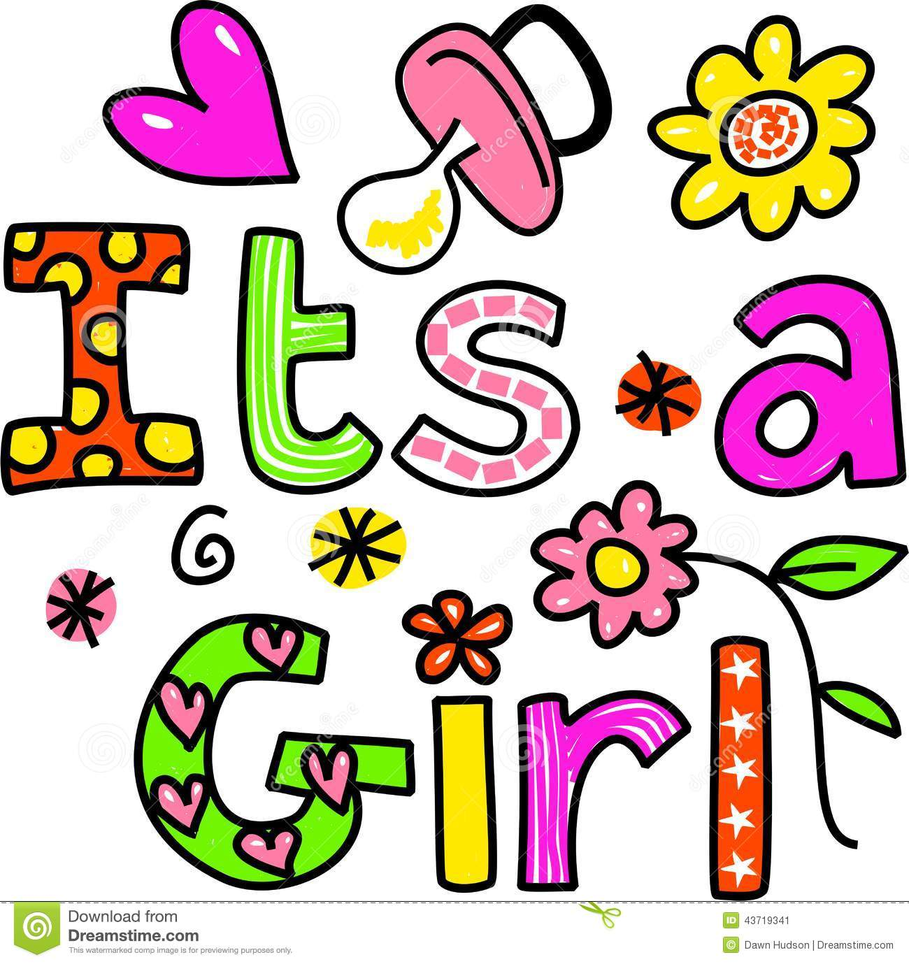 it s a girl cartoon text clipart stock illustration illustration rh dreamstime com Cheer Clip Art Vacation Clip Art