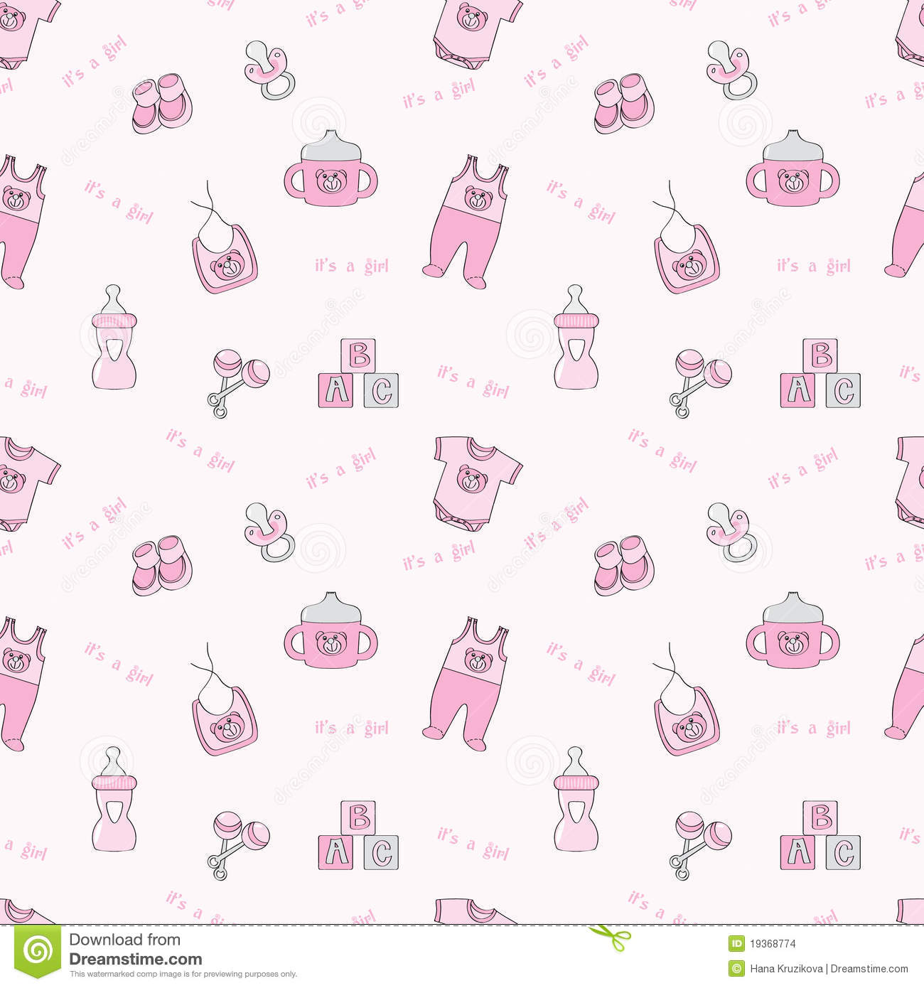 It's A Girl - Pink Seamless Background Stock Images - Image: 19368774