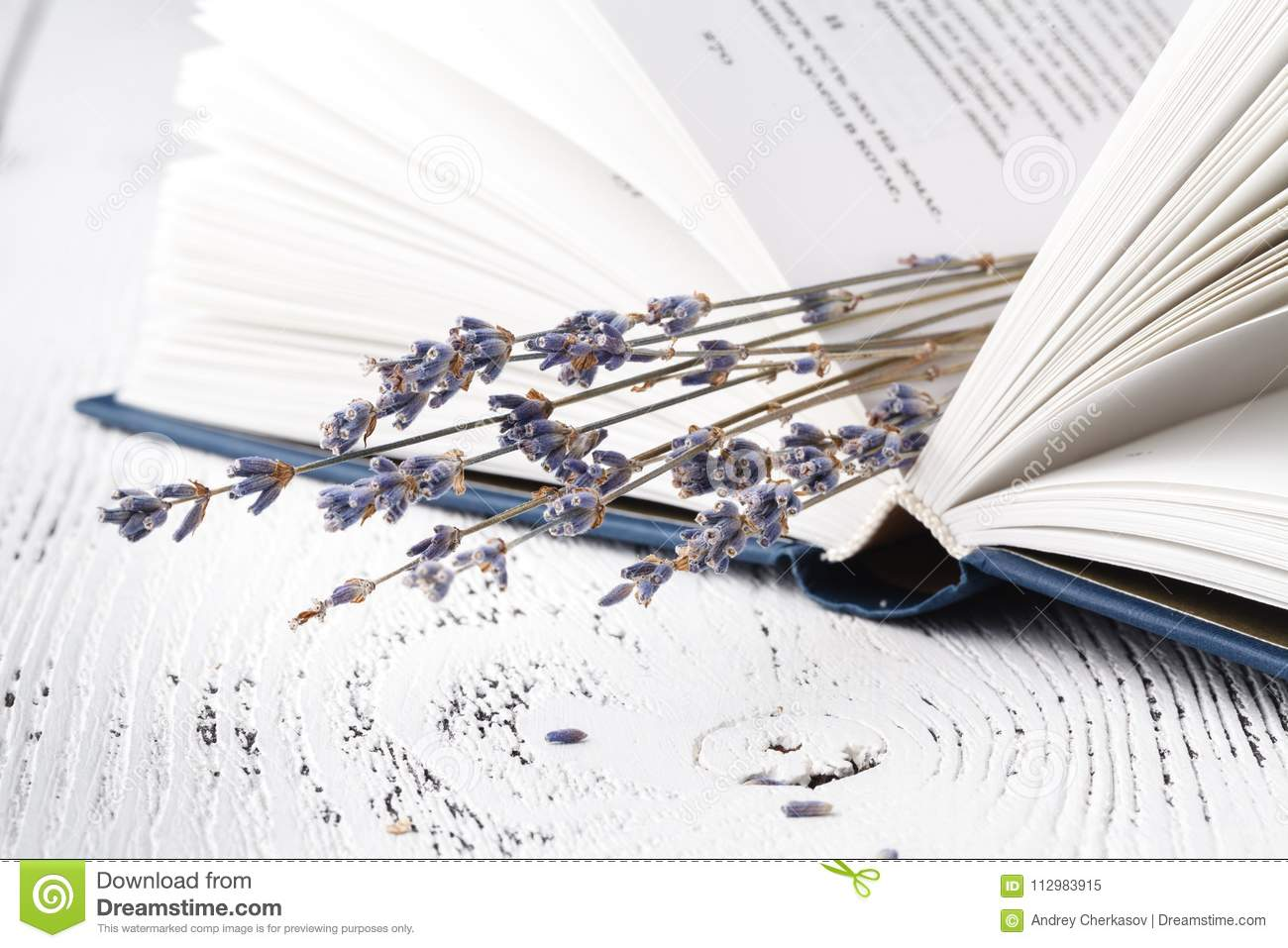 It`s good memories, a bouquet of dry lavender and grass and books