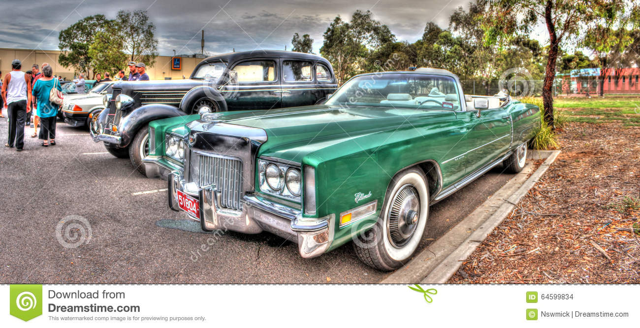 1970s Green Cadillac Eldorado Editorial Stock Image Image Of