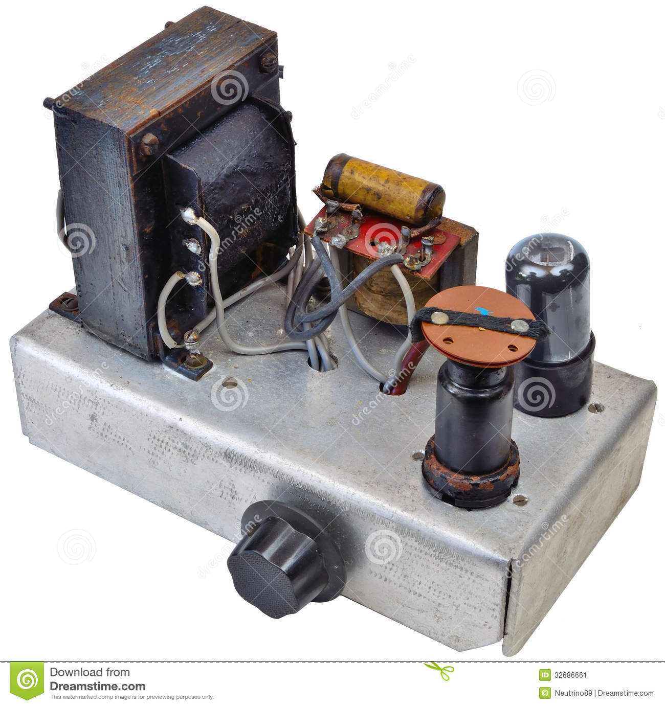 1950 S Home Made Amp Ww2 Surplus Components Stock Image