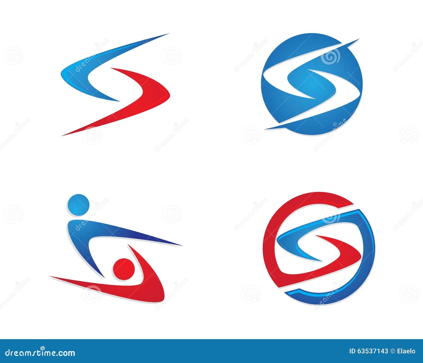 Finance Logo: S Letter Finance Logo Stock Vector