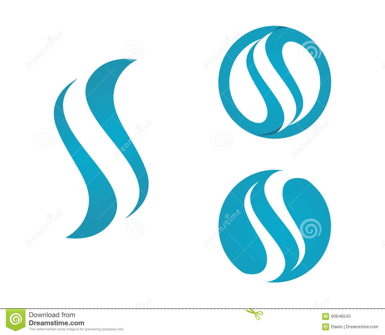 S Letter And S Logo Stock Vector Image 60646543
