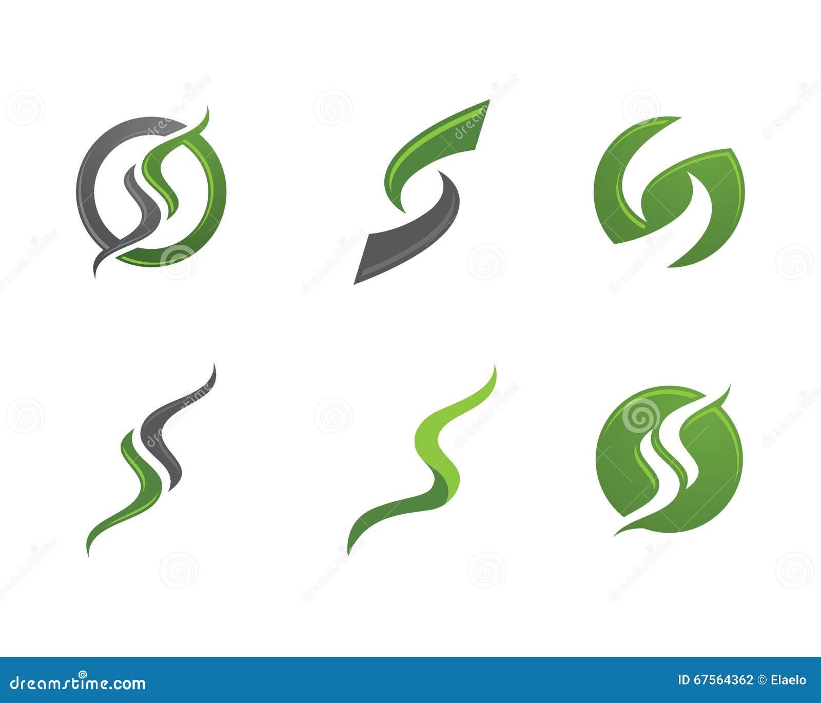 Letter S And Number  Design Elements
