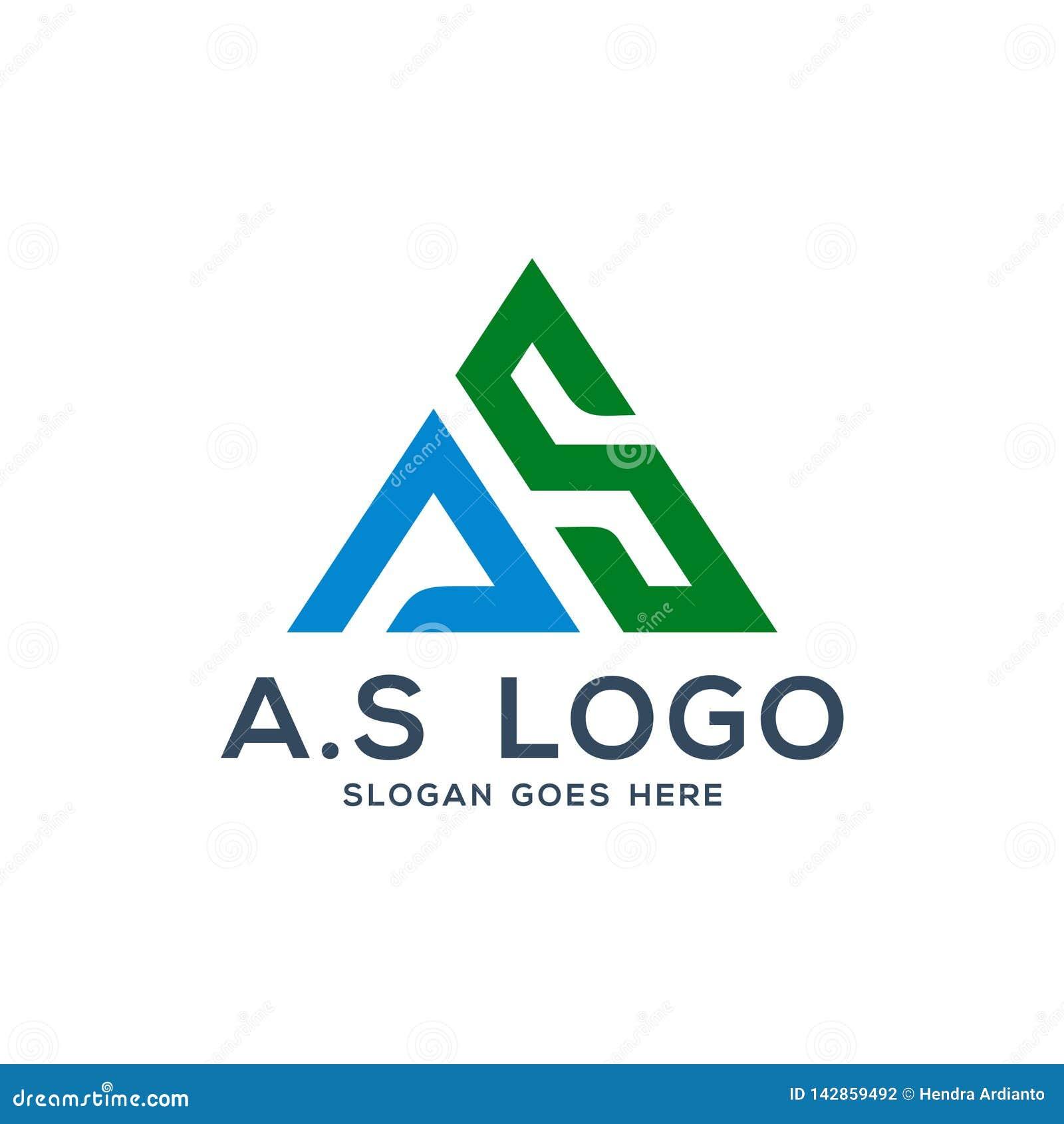 A s logo concep, inicjał Jako ilustracja