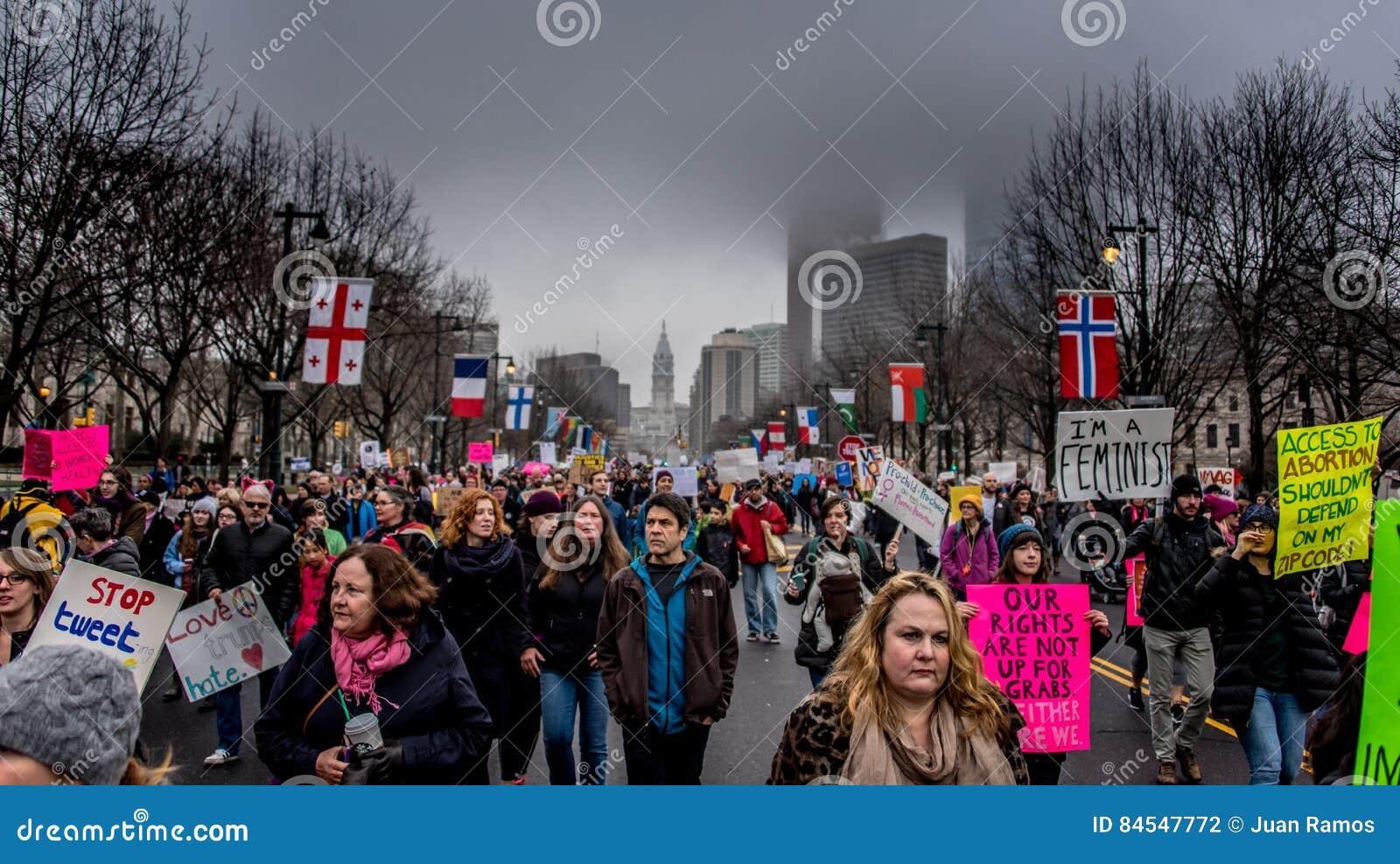 ` S mars, Philadelphie, étapes rocheuses de négligence de femmes