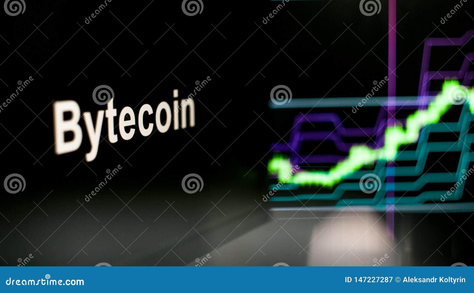 S?mbolo de Cryptocurrency El comportamiento de los intercambios del cryptocurrency, concepto Tecnolog?as financieras modernas