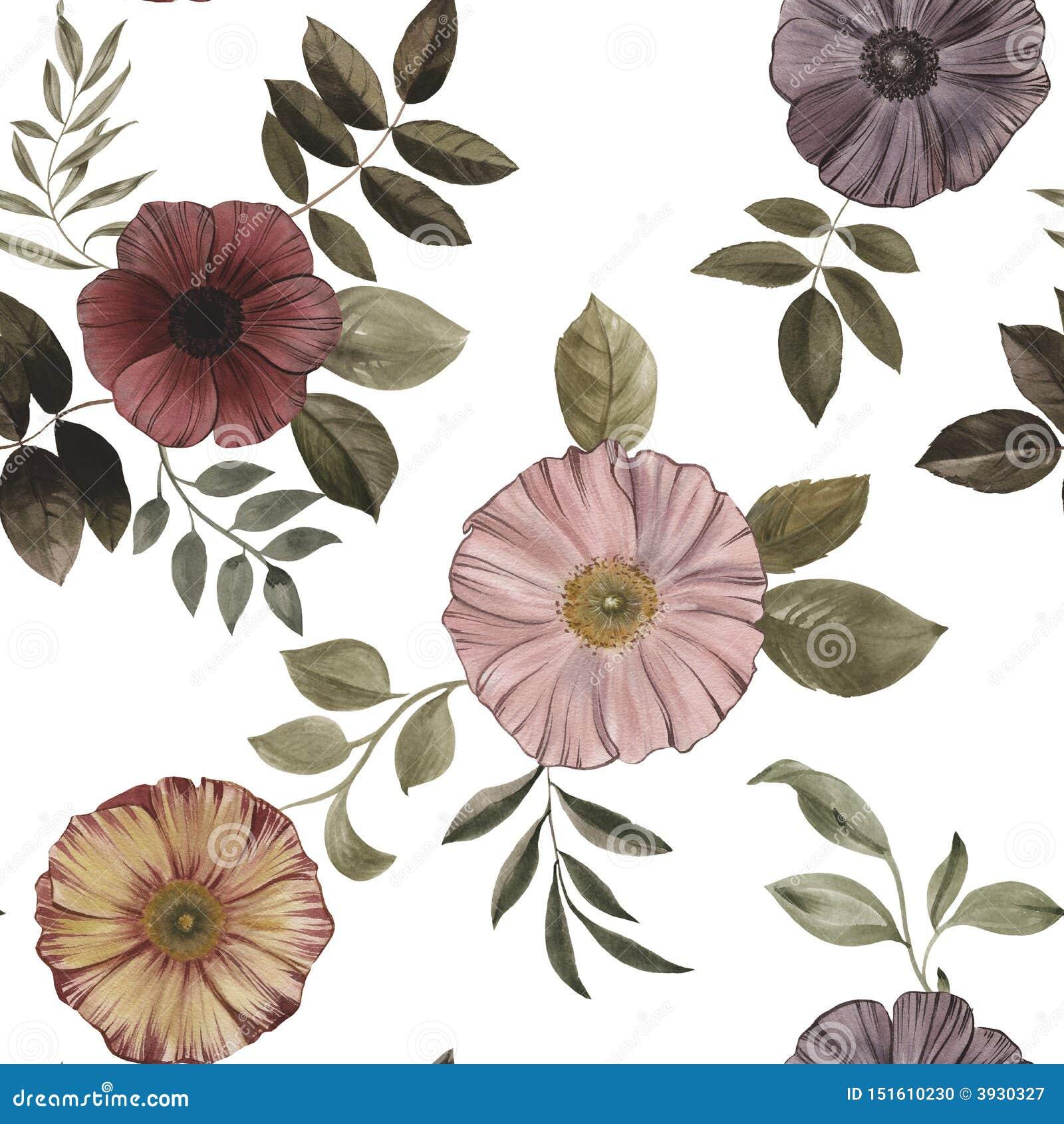 S?ml?s modell av blommor och sidor p? en vit bakgrund