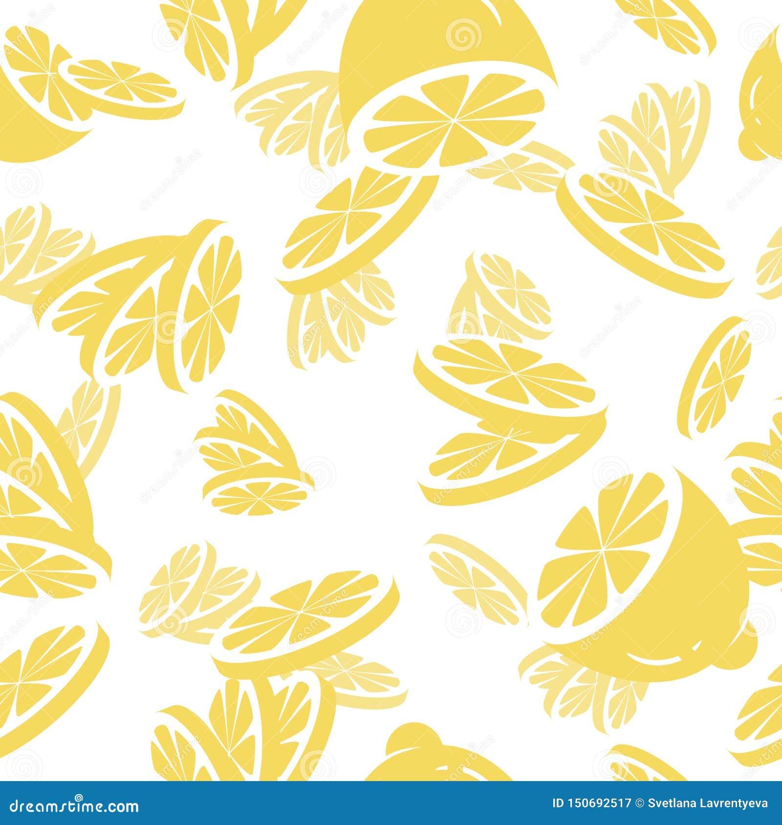 S?ml?s modell f?r vektor med citronskivor skivad half ananas f?r bakgrundssnittfrukt