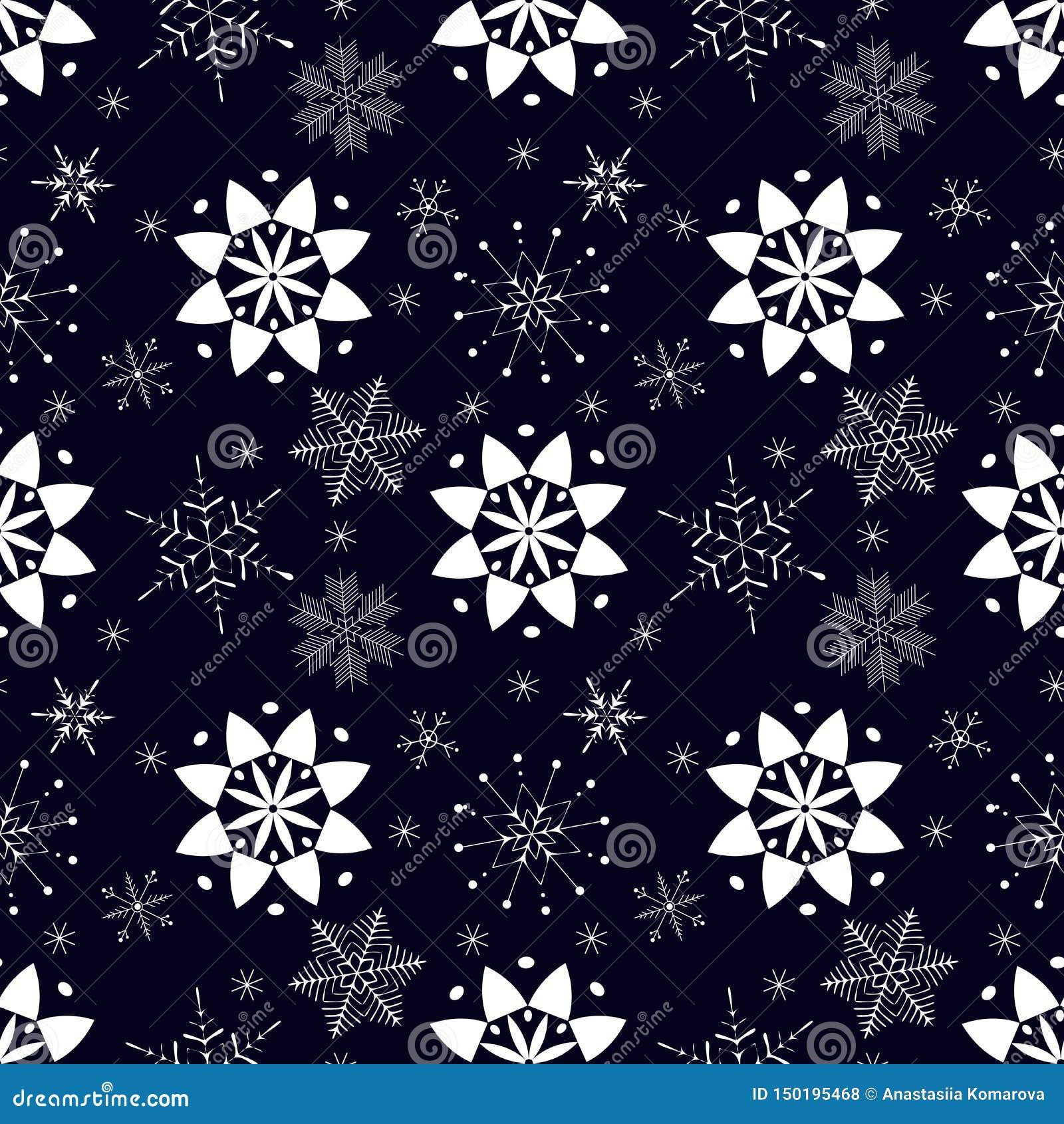 S?ml?s modell med vita sn?flingor p? m?rker - bl? bakgrund