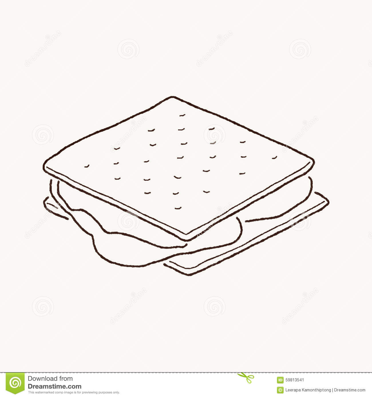 Smores Clipart Black And White Stock image: s mores. image: 59813541