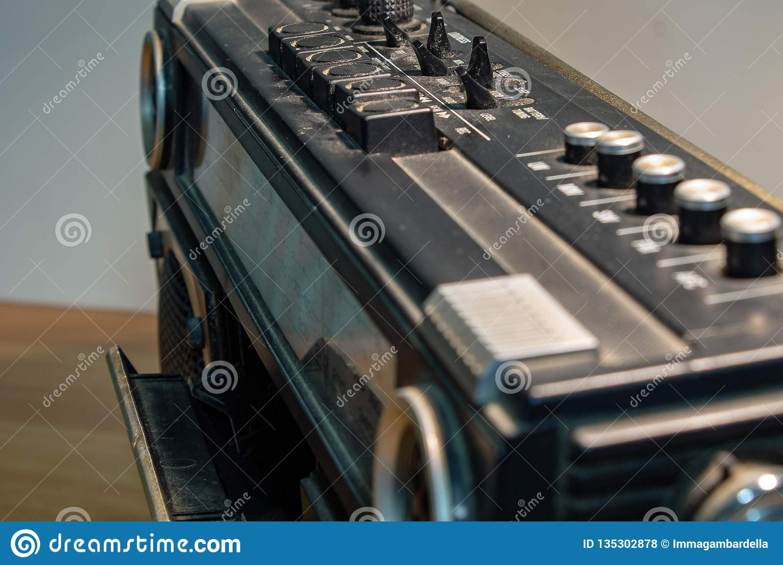 In the 70s and 80s the music was listened to through the cassettes, a magnetic storage device. The radios were very large.