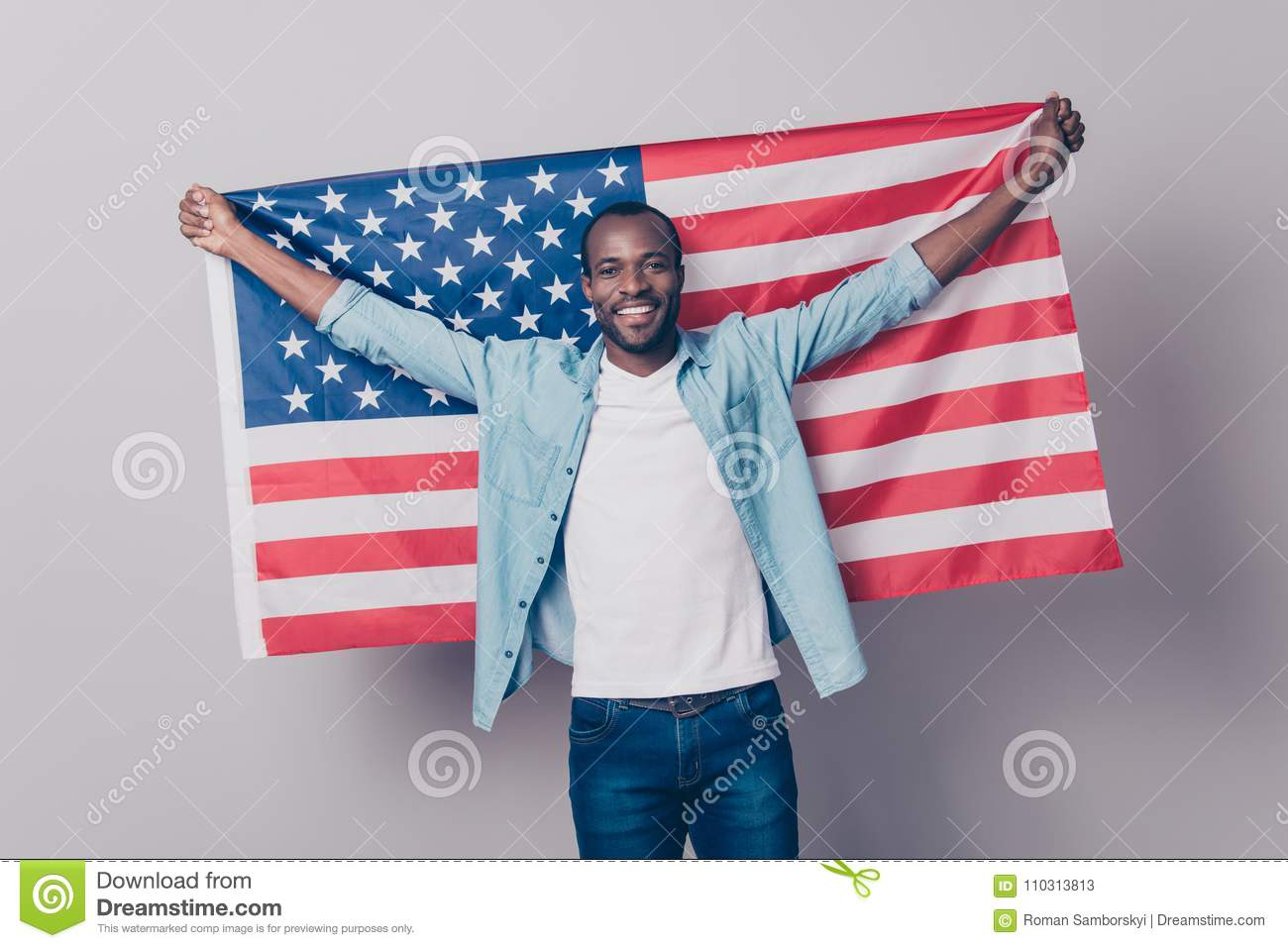 It`s my native country! Portrait of cheerful glad excited confid