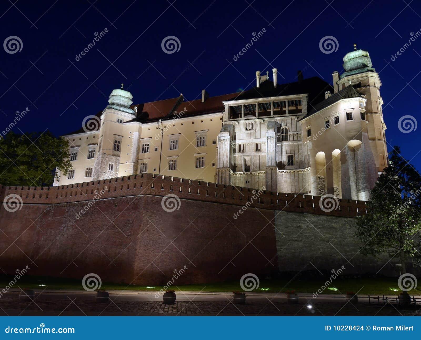s nachts het Kasteel van Wawel