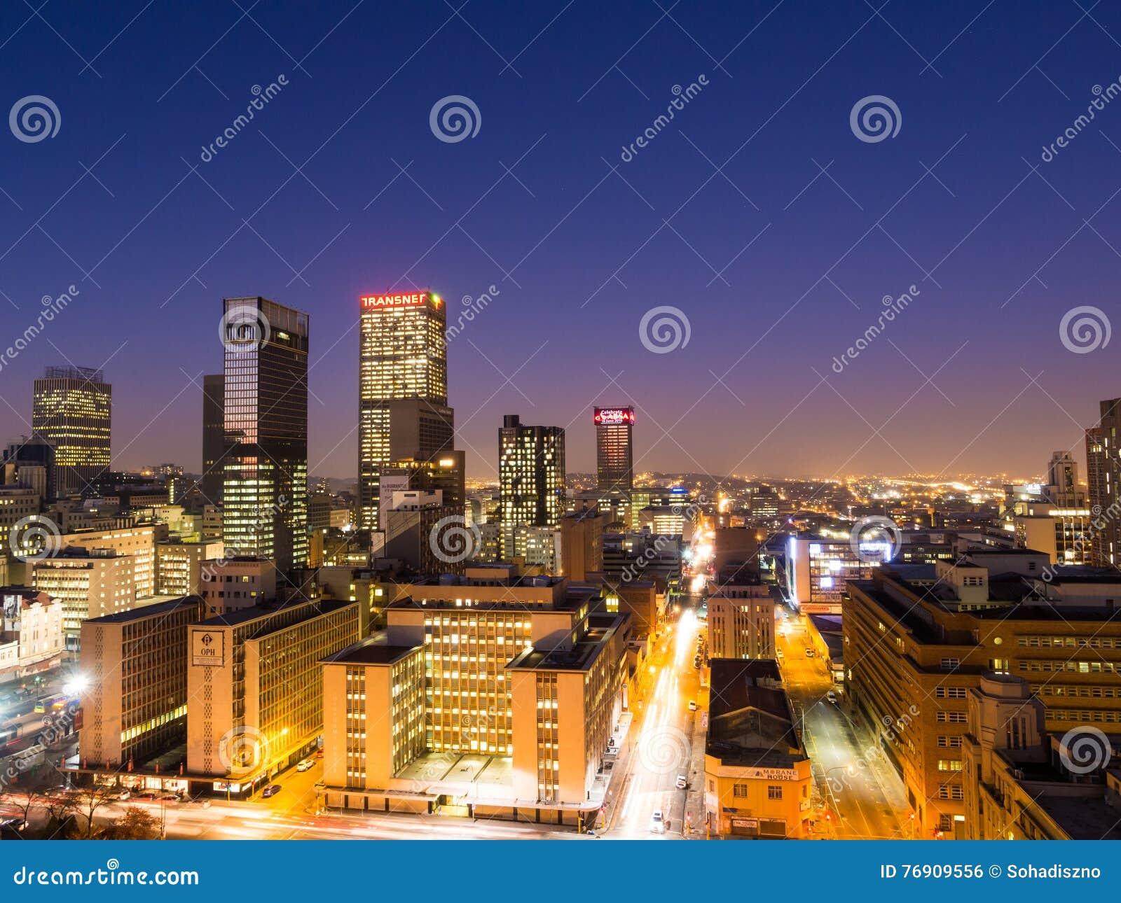 s nachts Johannesburg