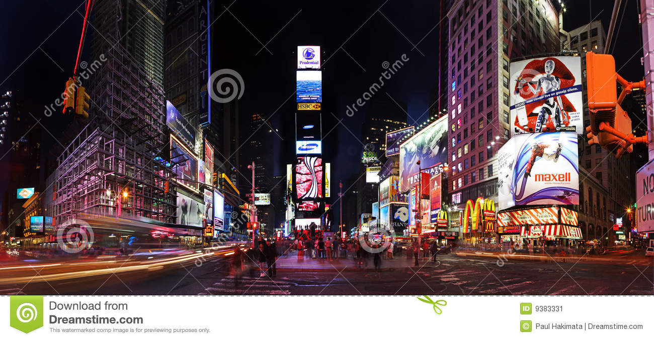 s nachts Times Square