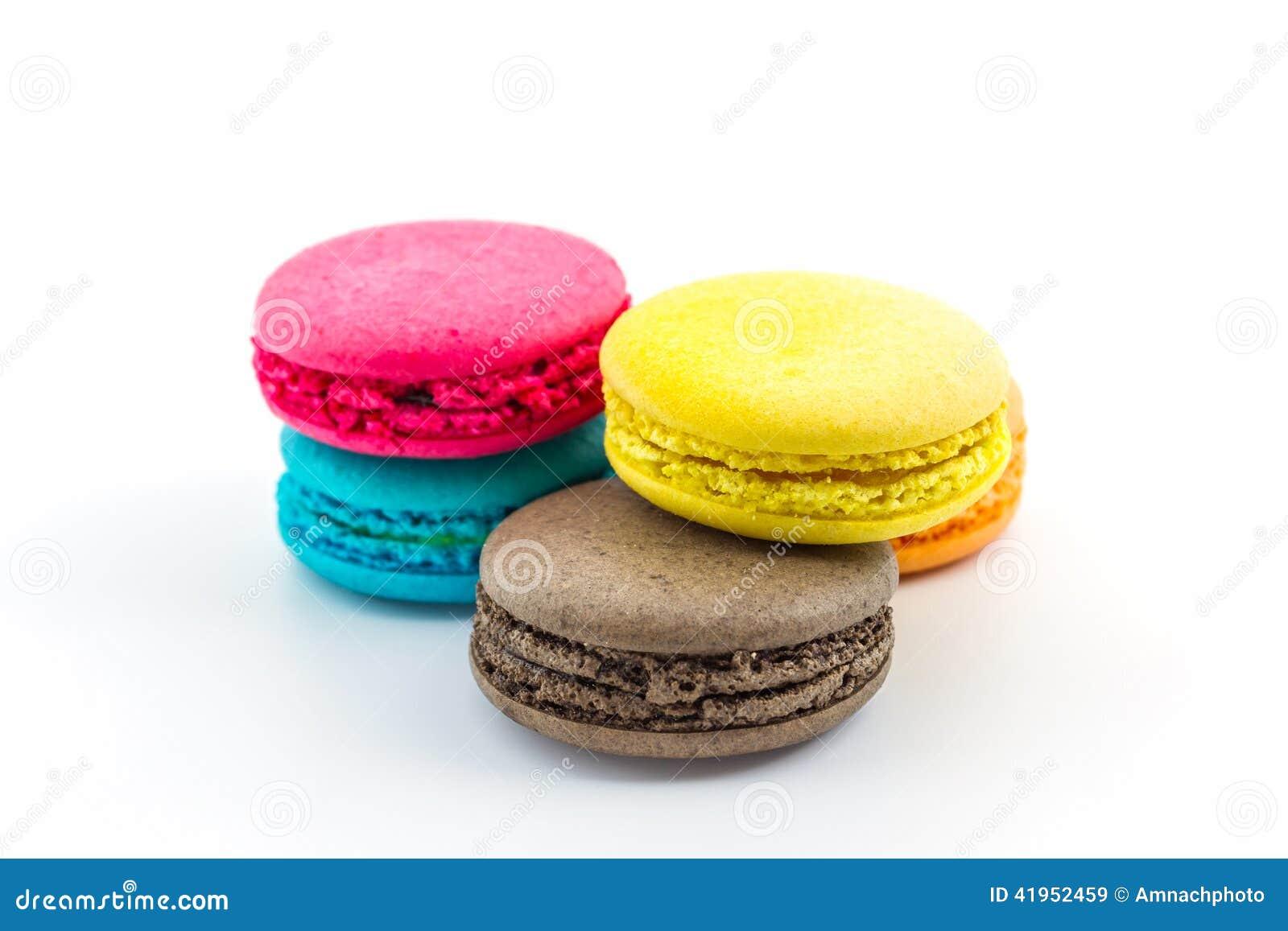 Słodcy i colourful francuscy macaroons